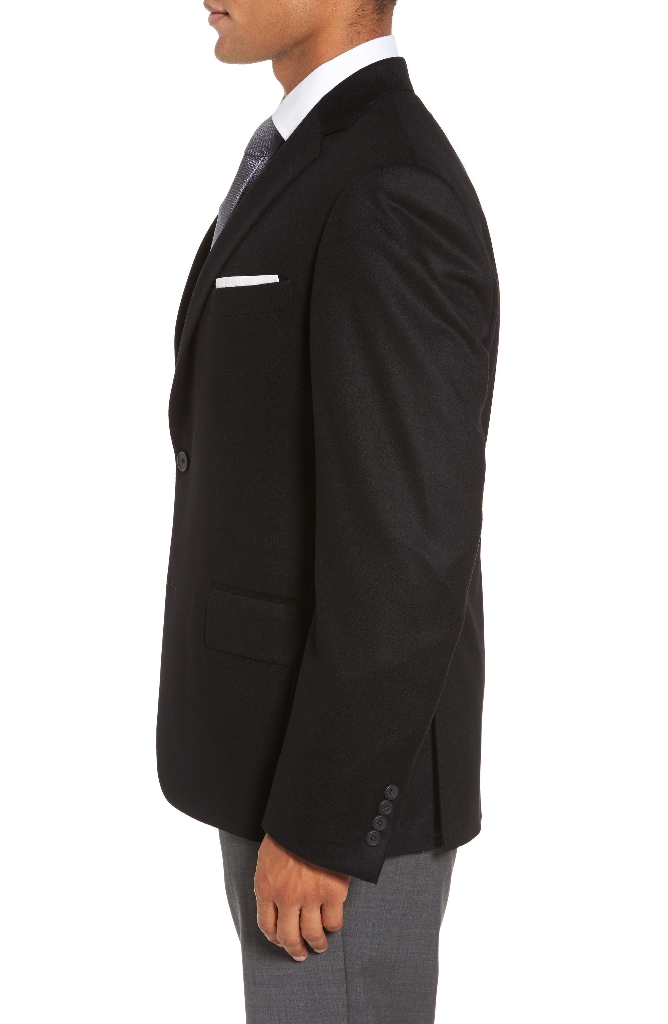 Classic Fit Cashmere Blazer,                             Alternate thumbnail 3, color,                             001