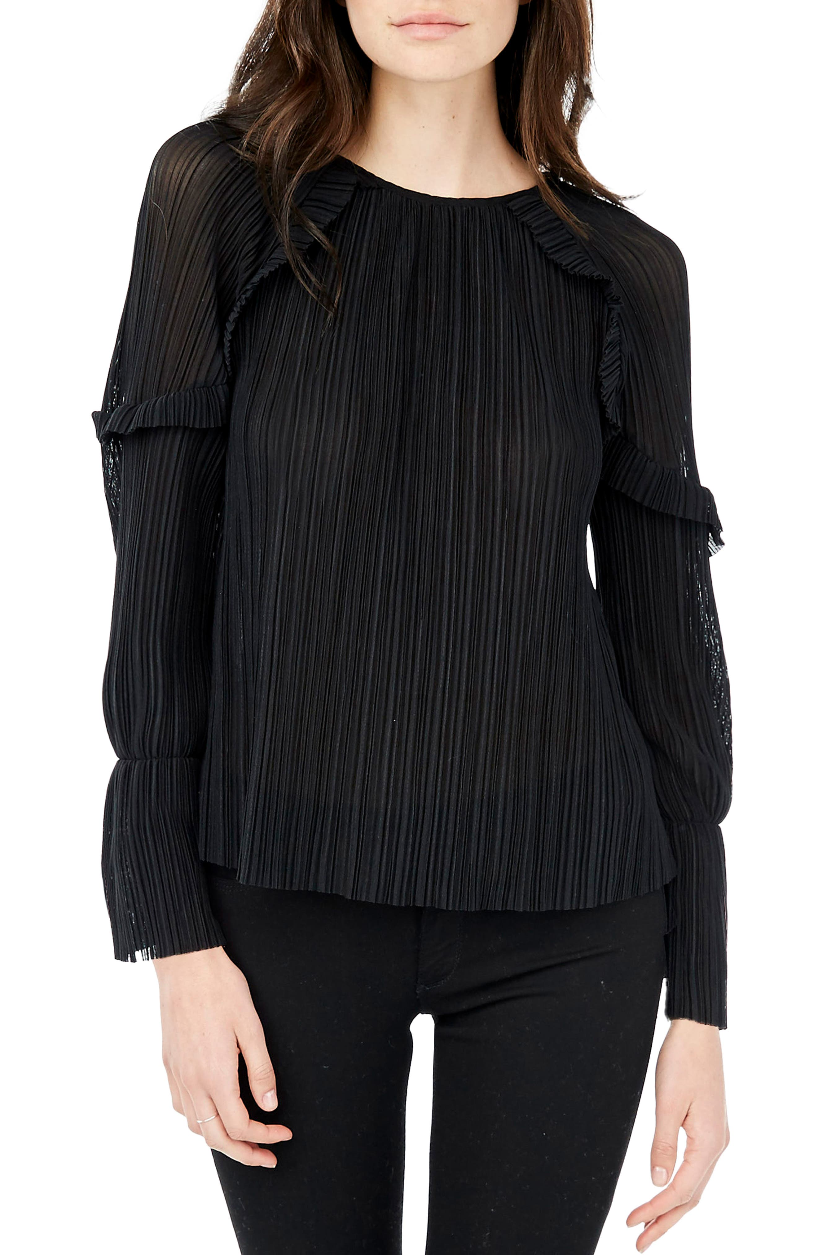 Bell Sleeve Top,                             Main thumbnail 1, color,                             001