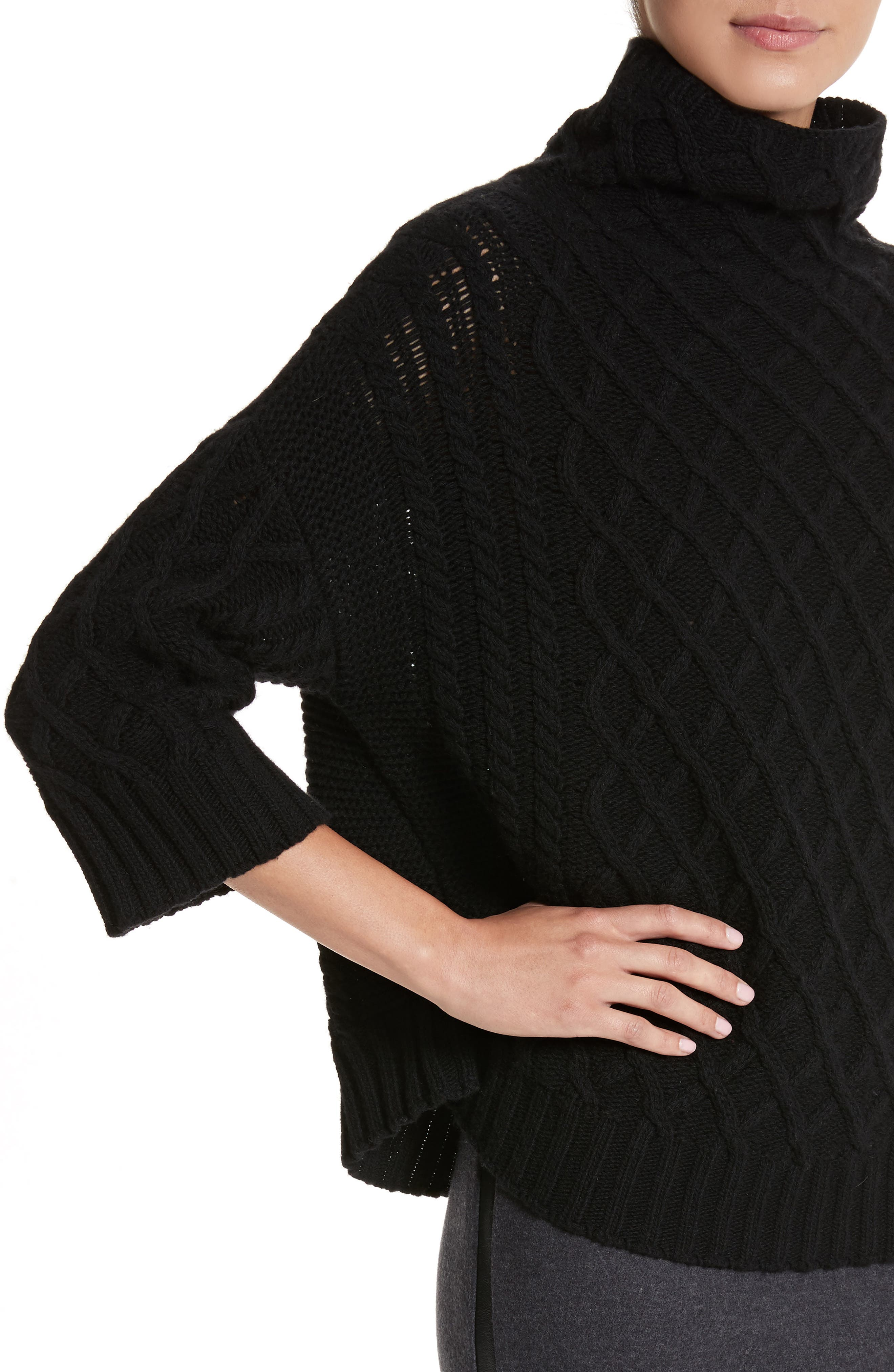 Cantone Wool & Cashmere Funnel Neck Sweater,                             Alternate thumbnail 4, color,
