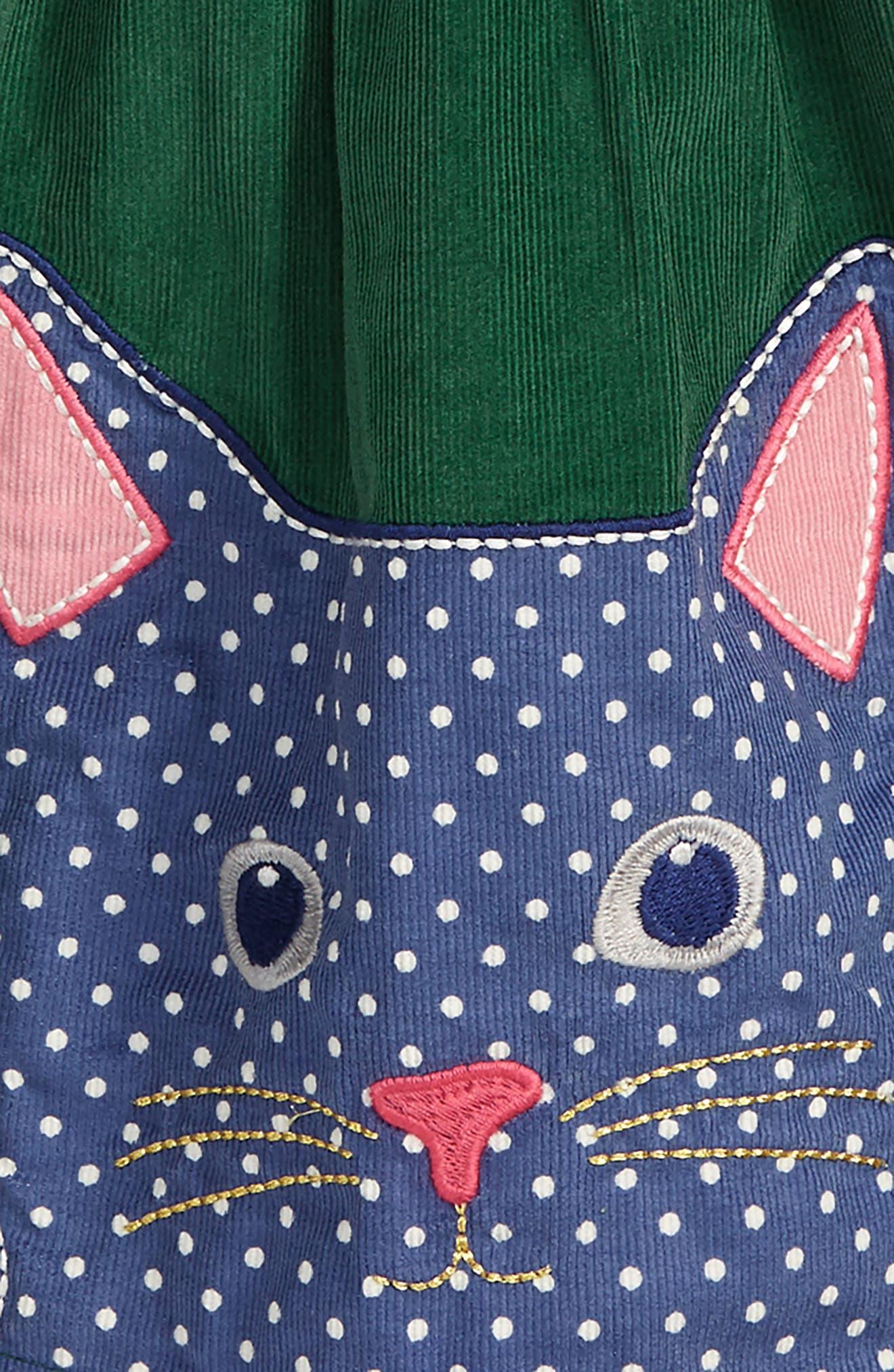 Animal Appliqué Skirt,                             Alternate thumbnail 2, color,                             WILLOW GREEN CAT
