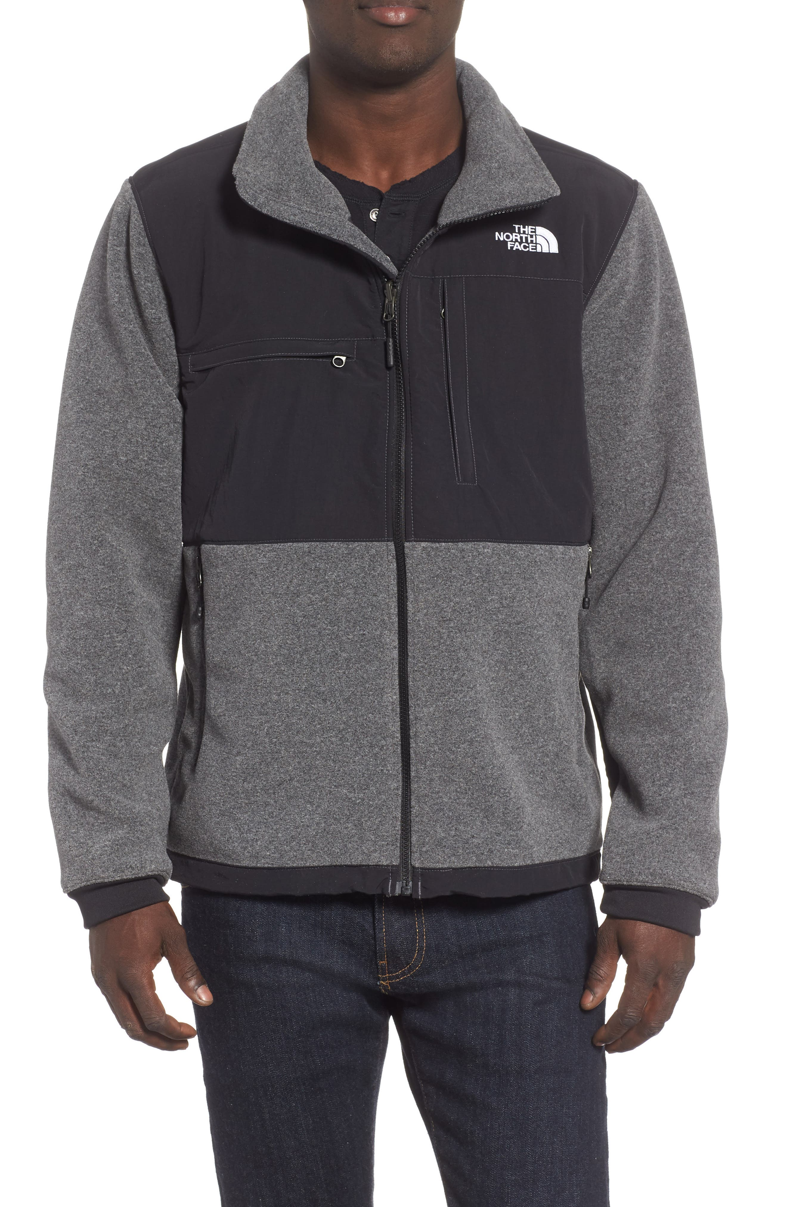 THE NORTH FACE,                             Denali 2 Jacket,                             Main thumbnail 1, color,                             RECYCLED CHARCOAL GREY HEATHER
