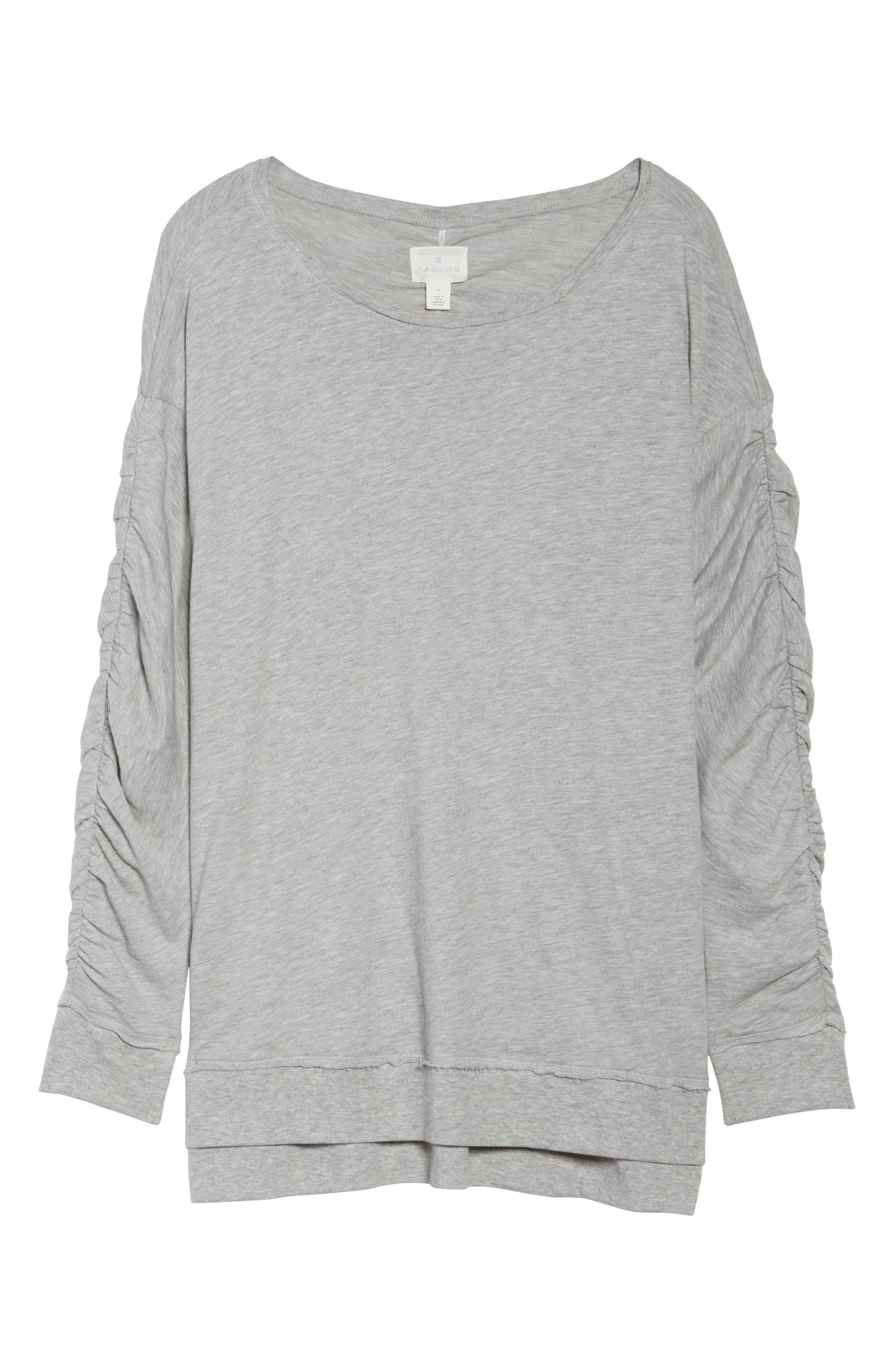 Scrunch Sleeve Sweatshirt,                             Alternate thumbnail 6, color,                             030