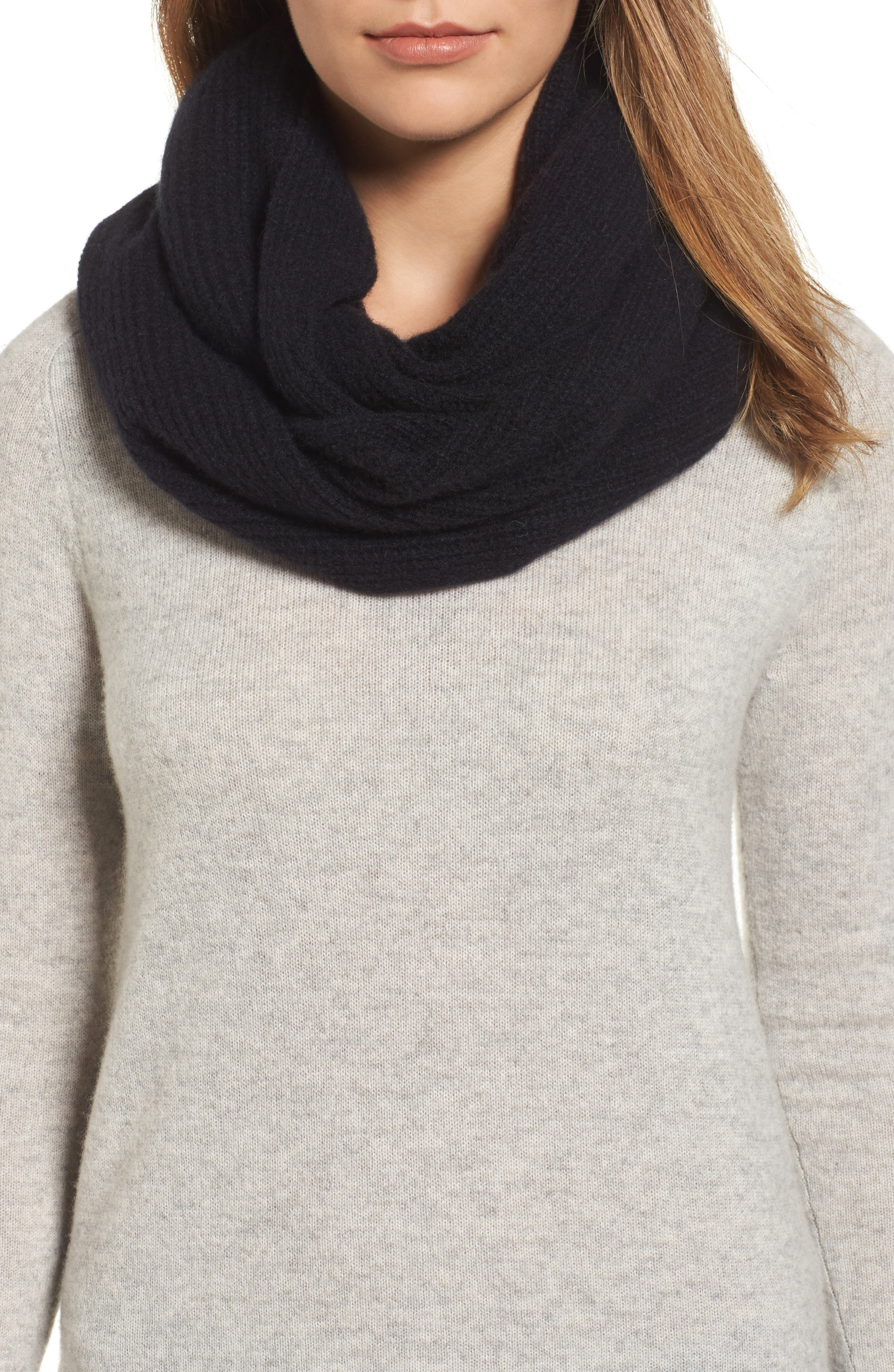 Cashmere Infinity Scarf,                             Main thumbnail 1, color,                             001