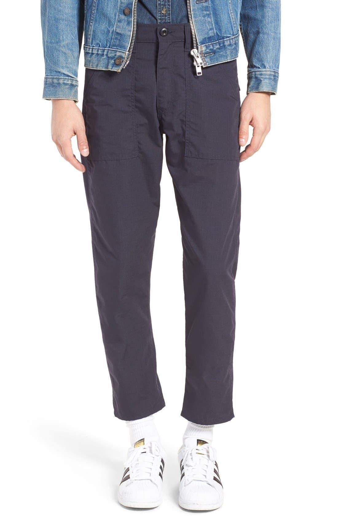 Slim Fit Four Pocket Fatigue Pants, Main, color, 410