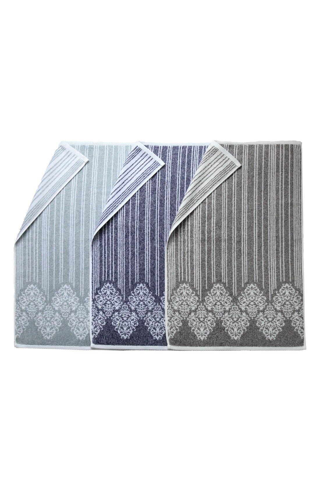 Linum 'Gioia' Turkish Cotton Washcloths,                             Alternate thumbnail 2, color,                             VINTAGE BROWN