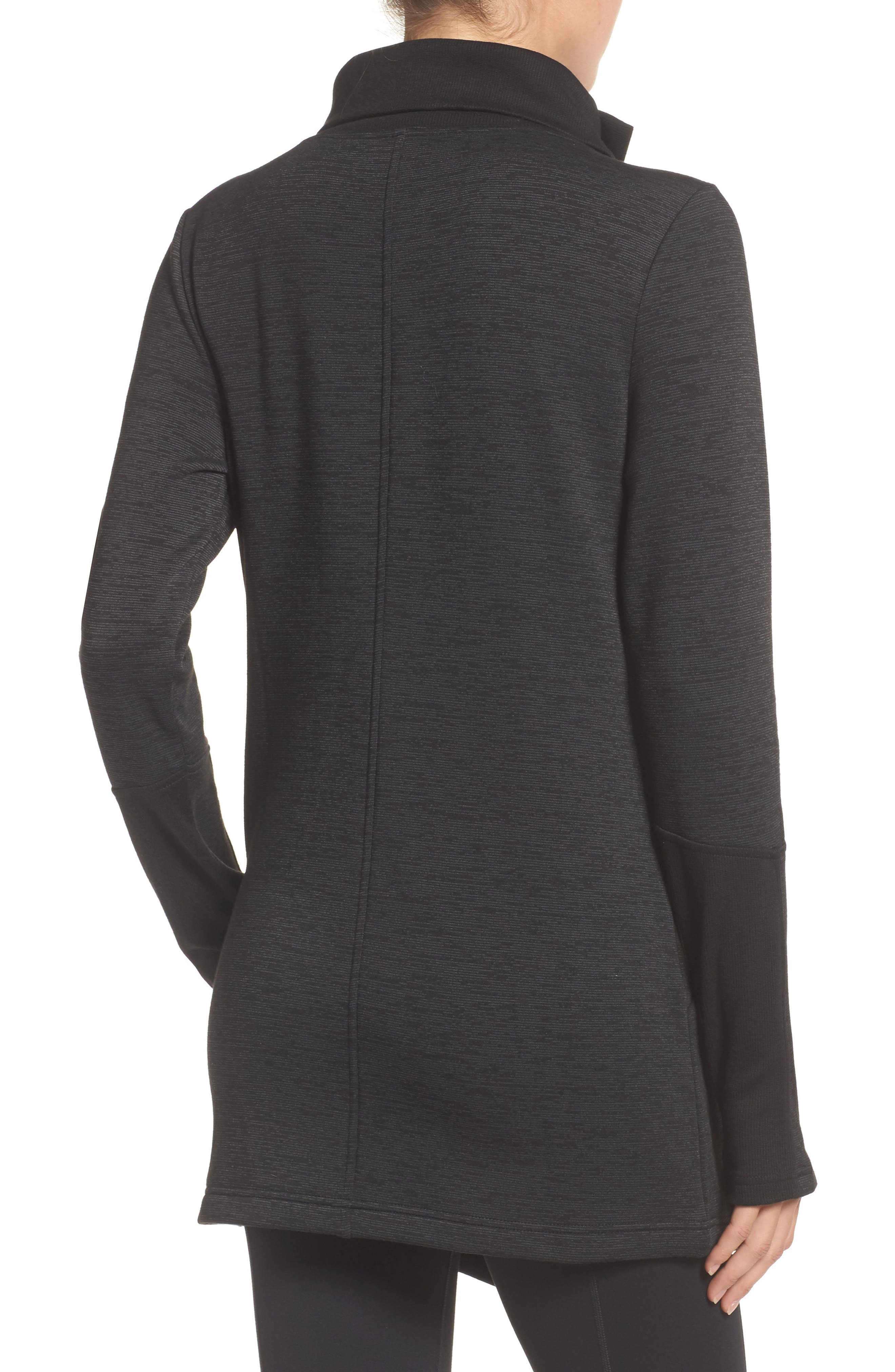 Elevate Me Wrap Sweatshirt,                             Alternate thumbnail 2, color,                             001