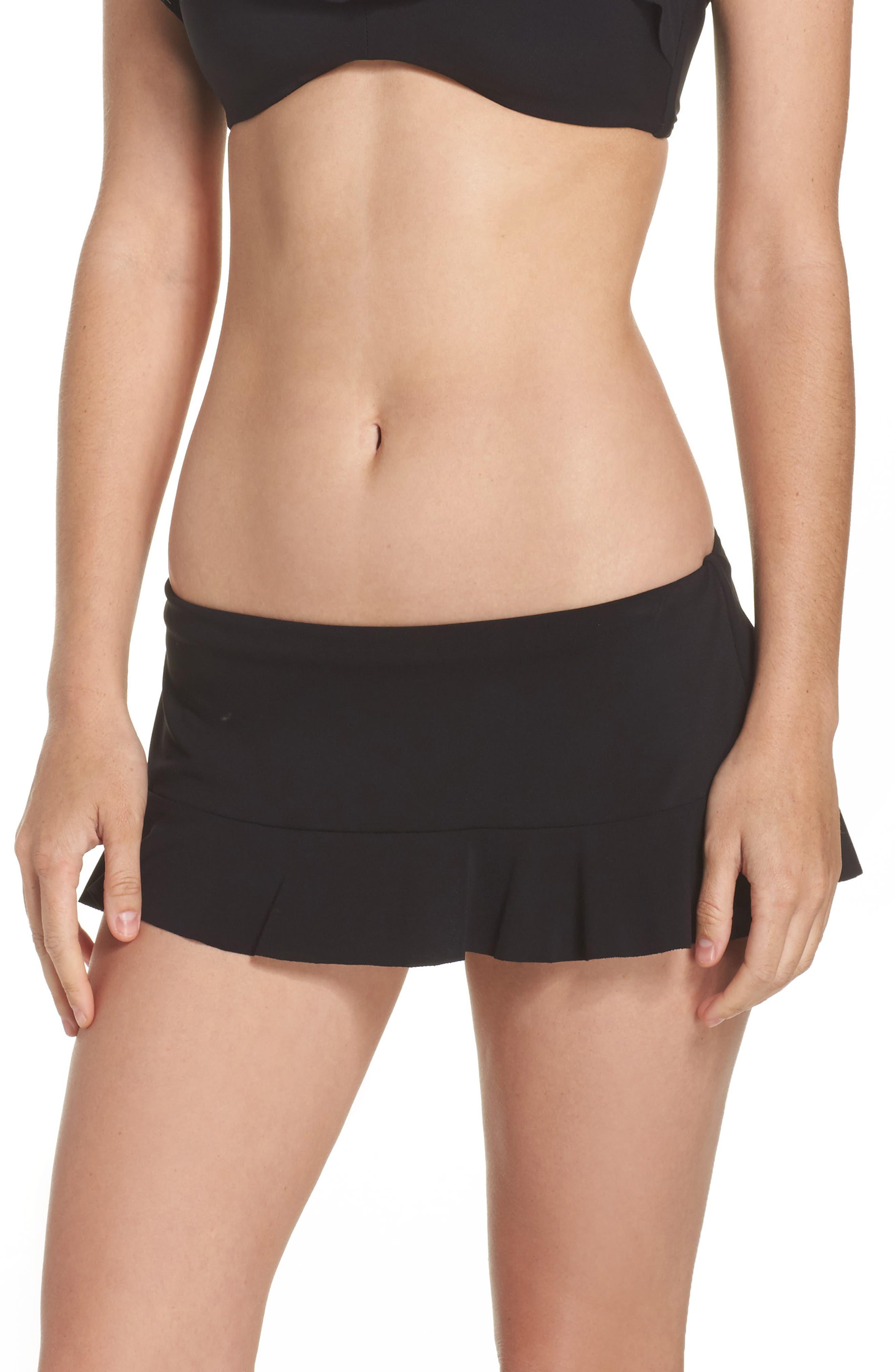 Lina Ruffle Swim Skirt,                             Main thumbnail 1, color,