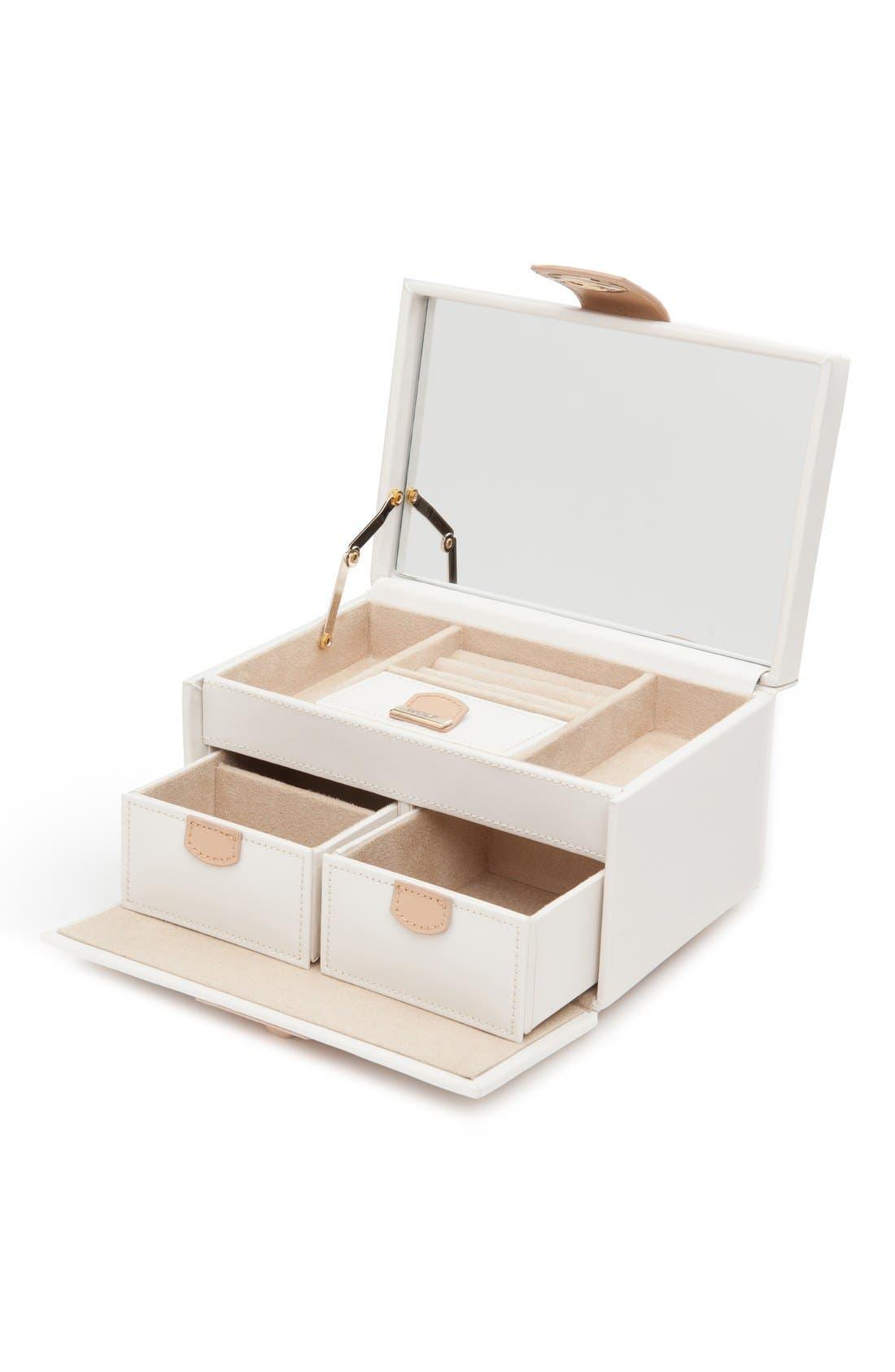 'Chloe' Jewelry Box,                             Alternate thumbnail 5, color,                             CREAM