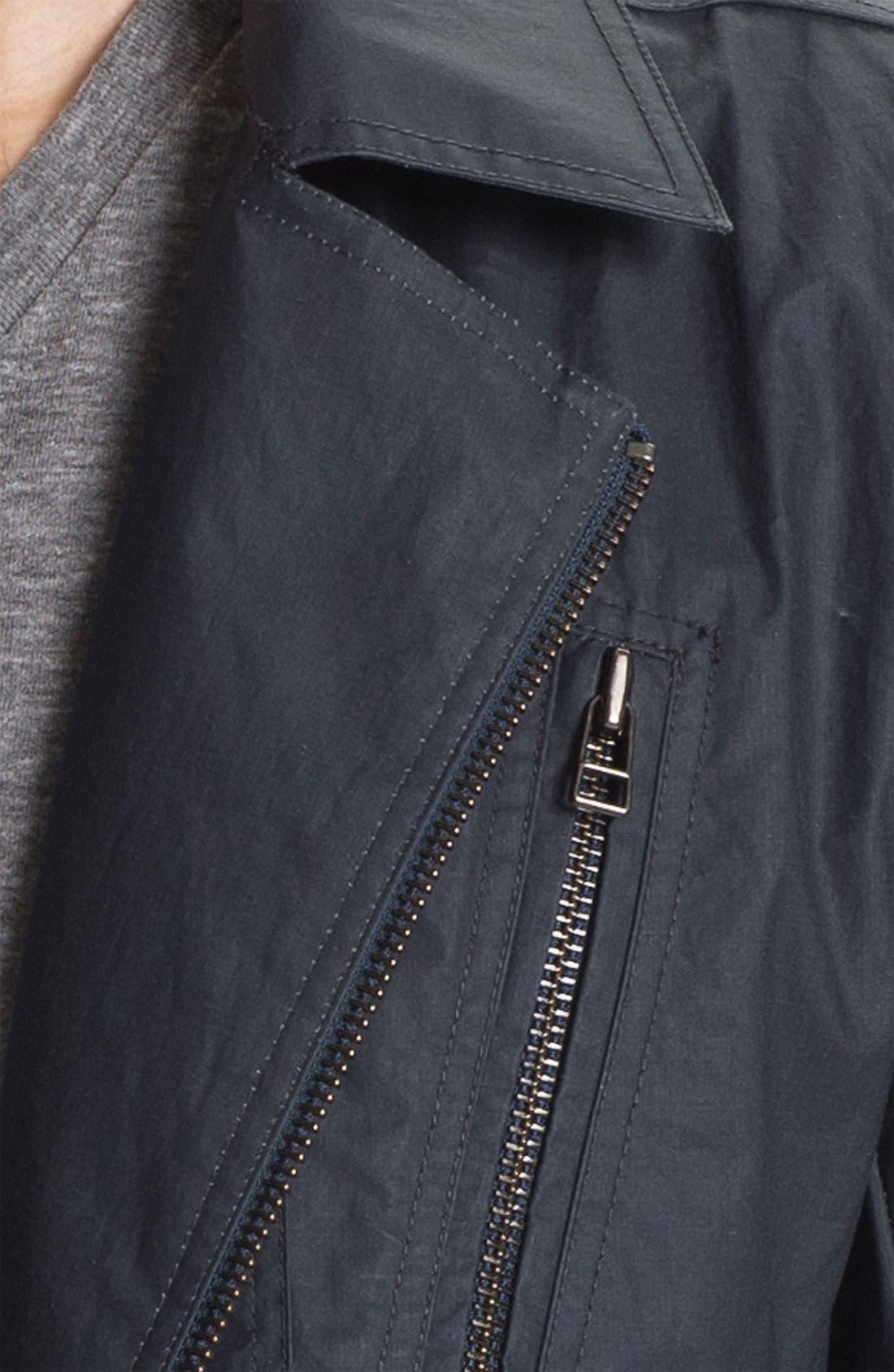 Cotton Canvas Moto Jacket,                             Alternate thumbnail 3, color,                             477