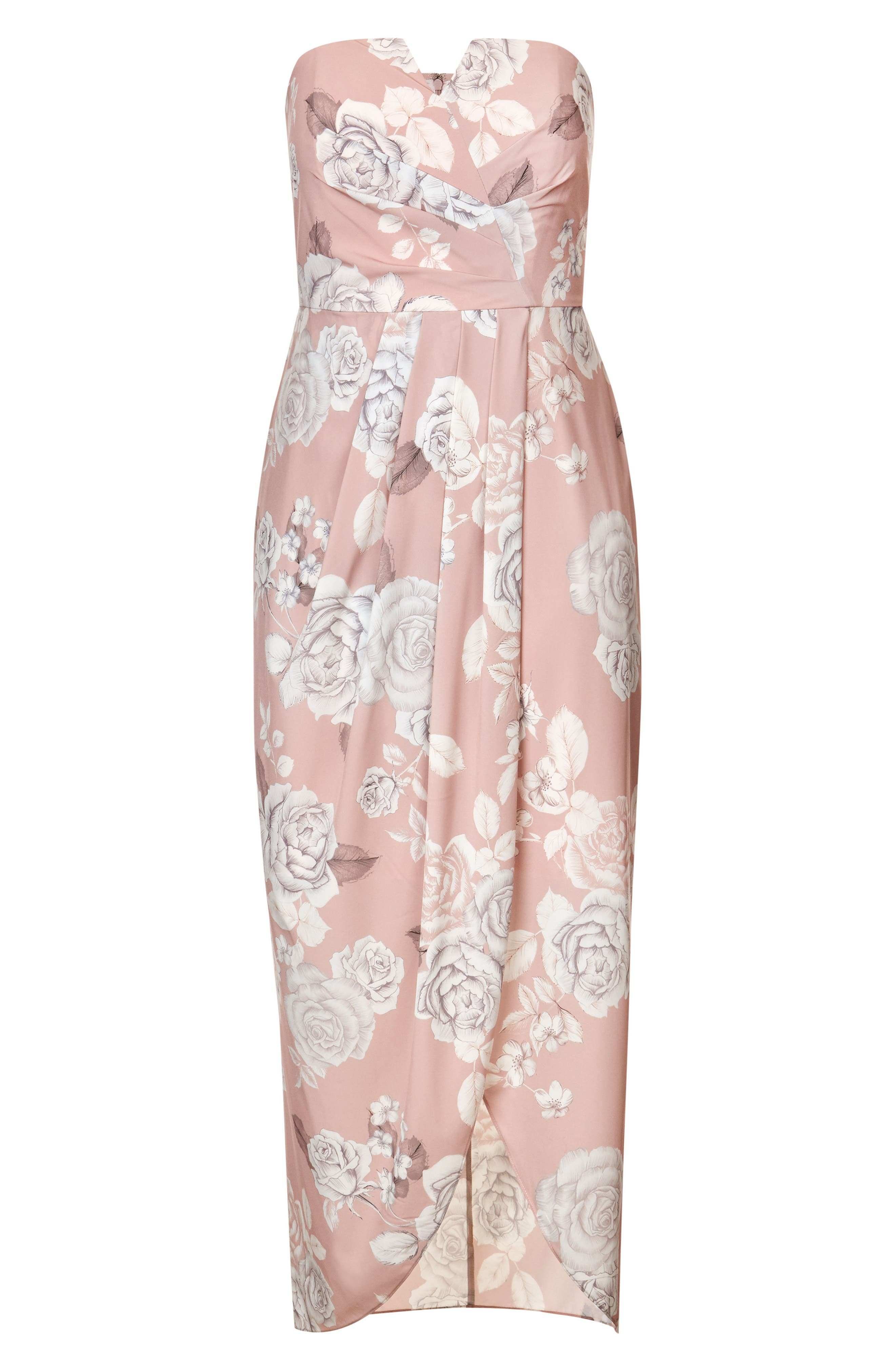 Whimsical High/Low Maxi Dress,                             Alternate thumbnail 3, color,                             601