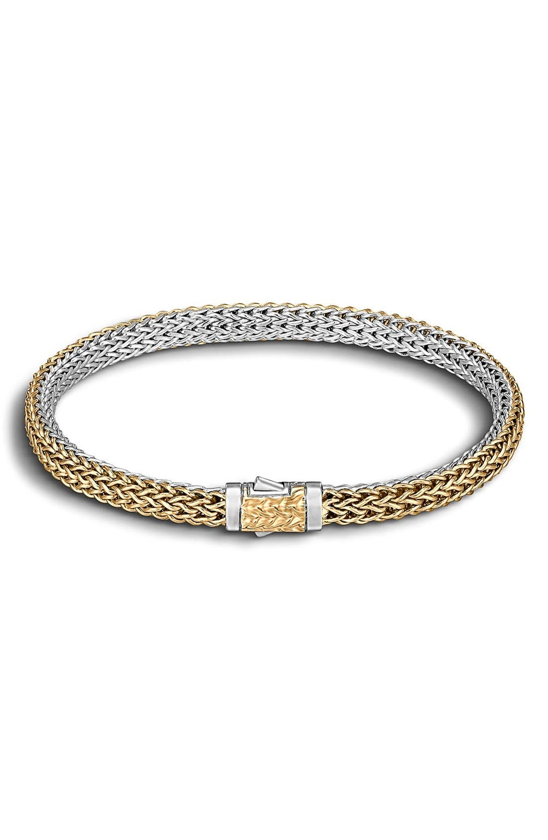 'Classic Chain' Extra Small Reversible Bracelet,                             Main thumbnail 1, color,                             GOLD/ SILVER