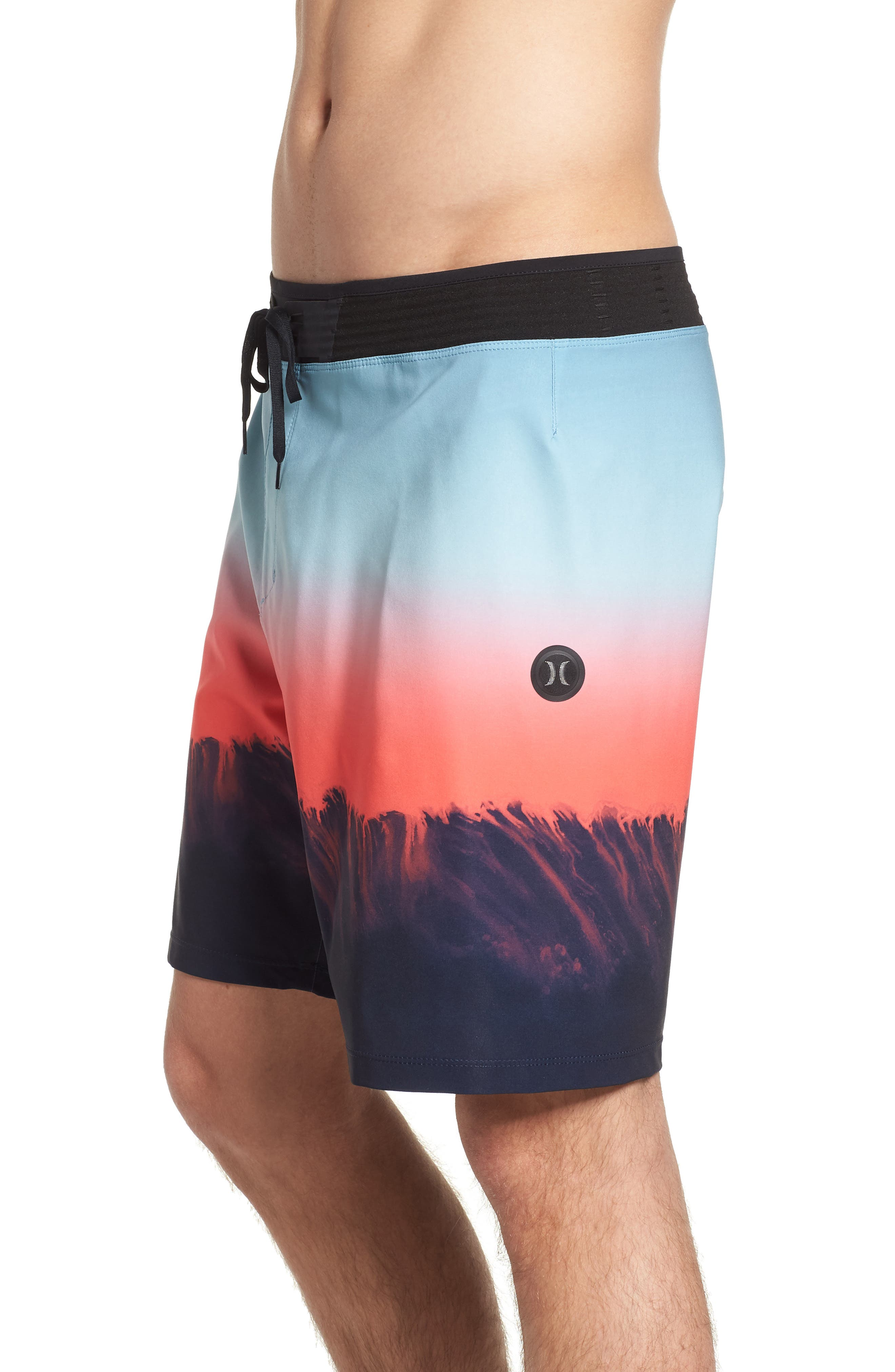 Phantom Hyperweave 3.0 Estuary Board Shorts,                             Alternate thumbnail 4, color,                             OBSIDIAN