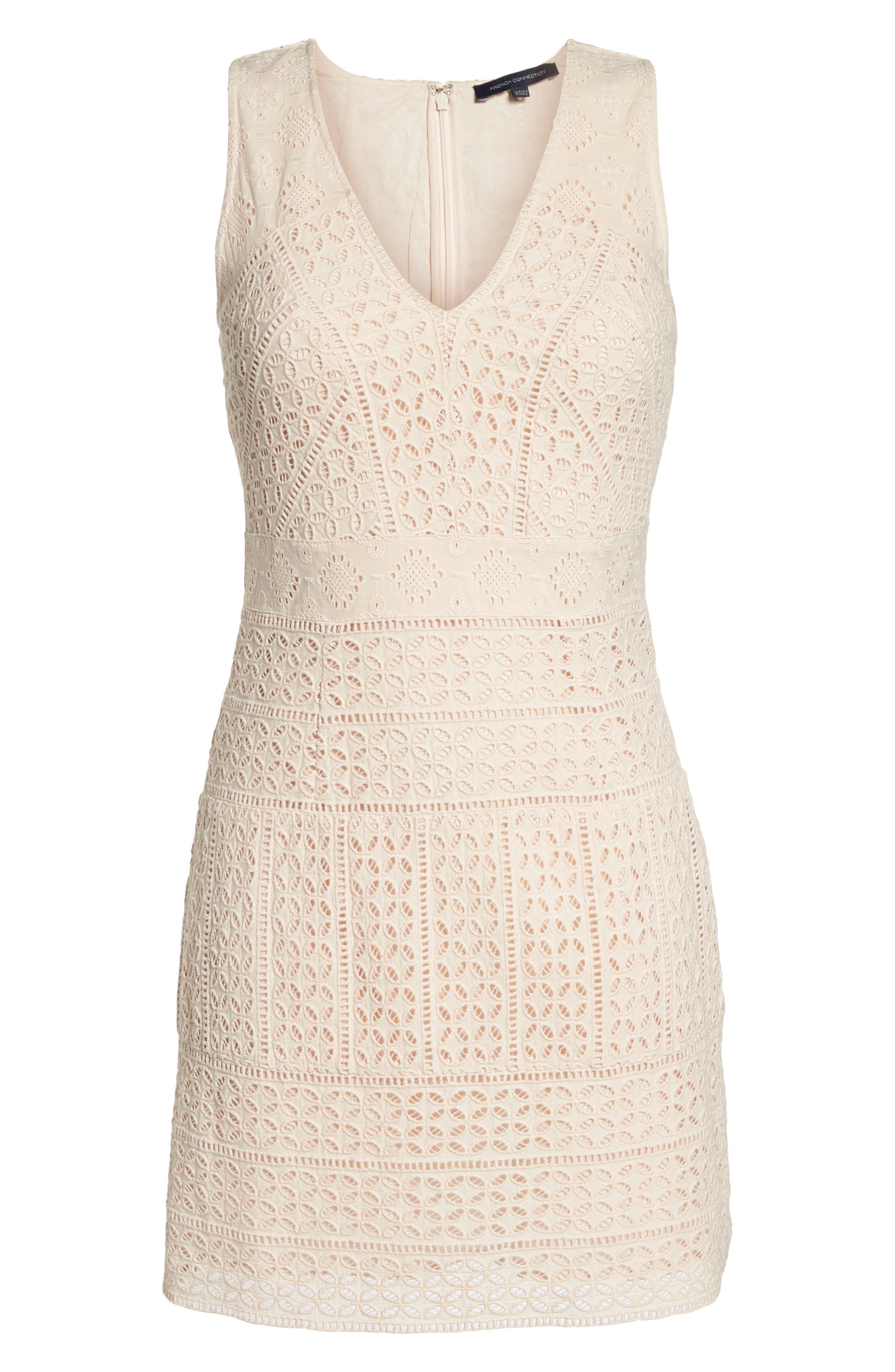 Schiffley Summer Cage Cotton Dress,                             Alternate thumbnail 7, color,                             687