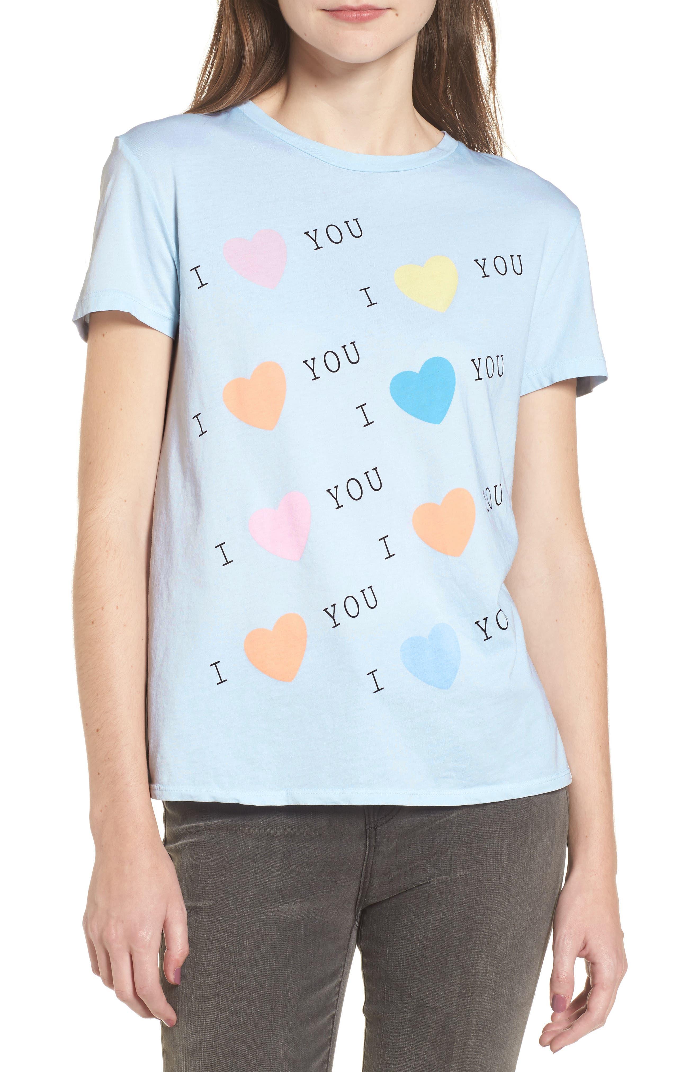 I Love You Tee,                         Main,                         color, 401