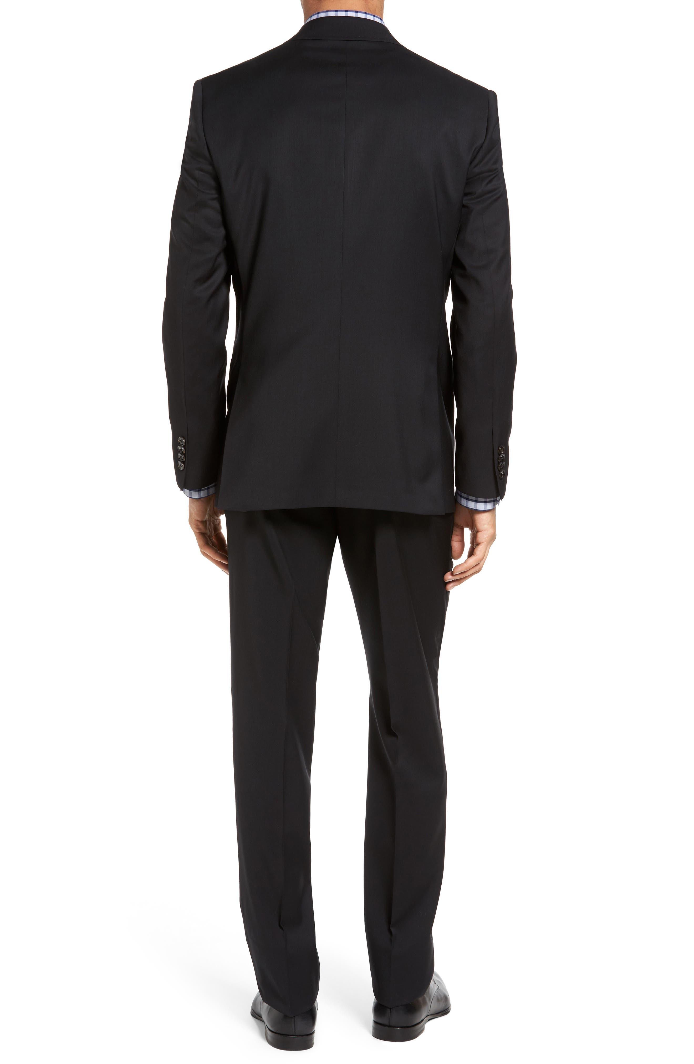 Jones Trim Fit Wool Suit,                             Alternate thumbnail 2, color,                             001