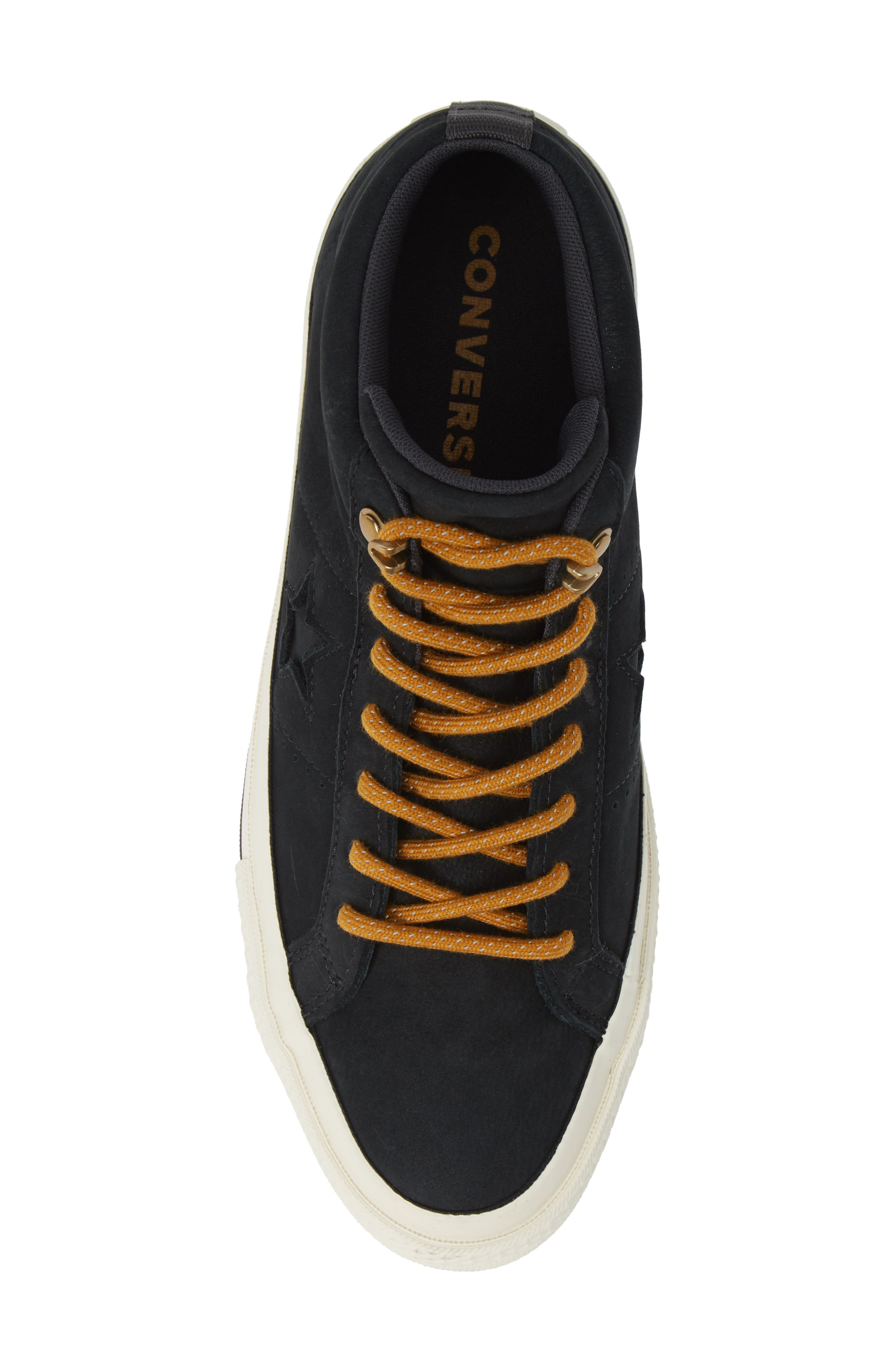One Star Mid Counter Climate Scout Sneaker,                             Alternate thumbnail 5, color,                             BLACK/ BLUE HERO/ TEAK SUEDE
