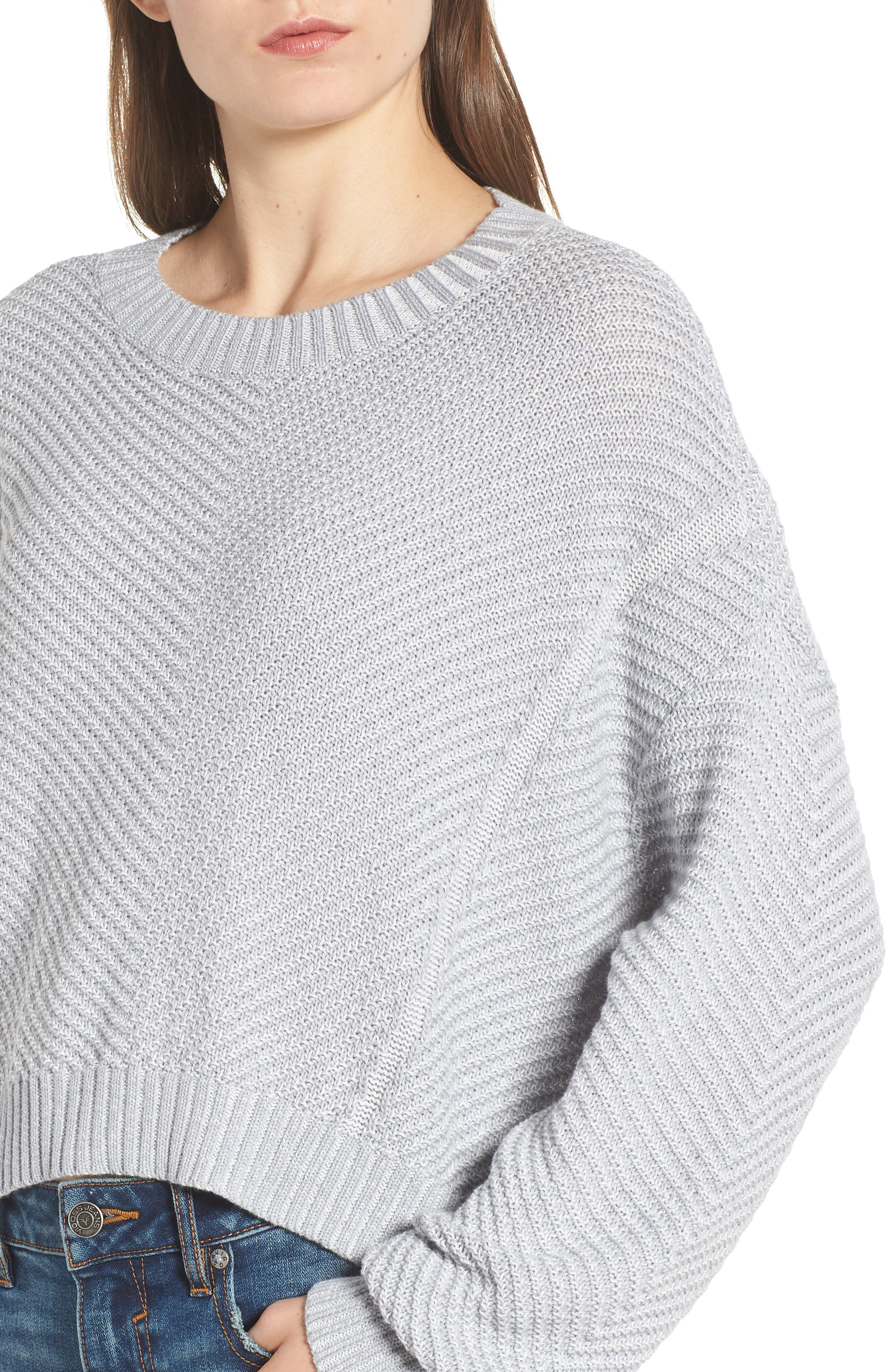 Plaited Drop Shoulder Sweater,                             Alternate thumbnail 5, color,                             050