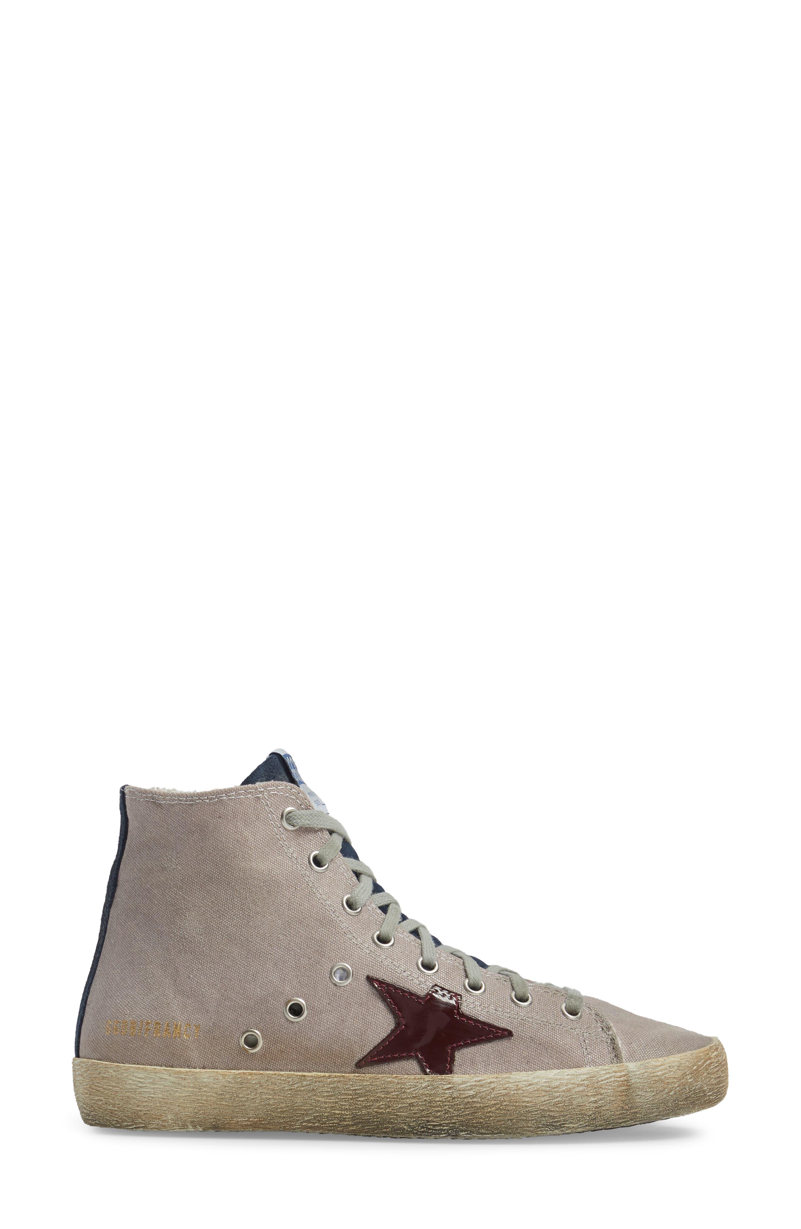 Francy Mid Top Sneaker,                             Alternate thumbnail 3, color,                             530