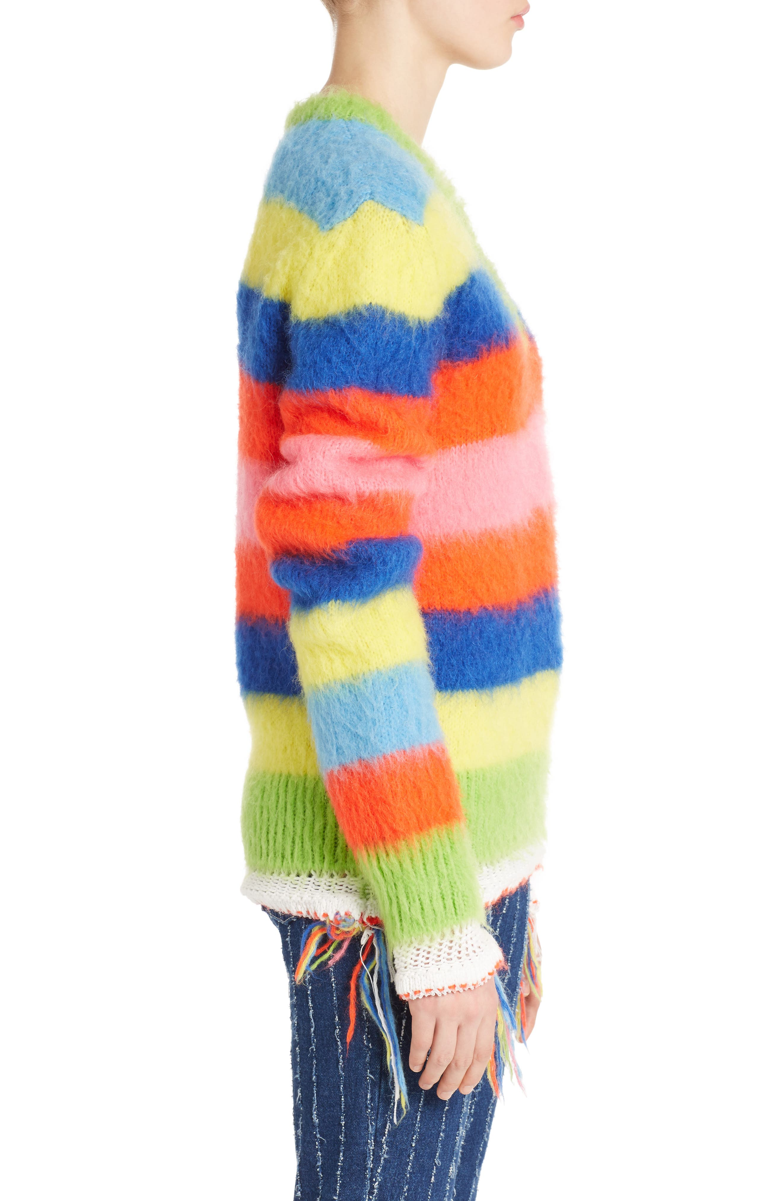 Multi Stripe Sweater,                             Alternate thumbnail 3, color,                             020