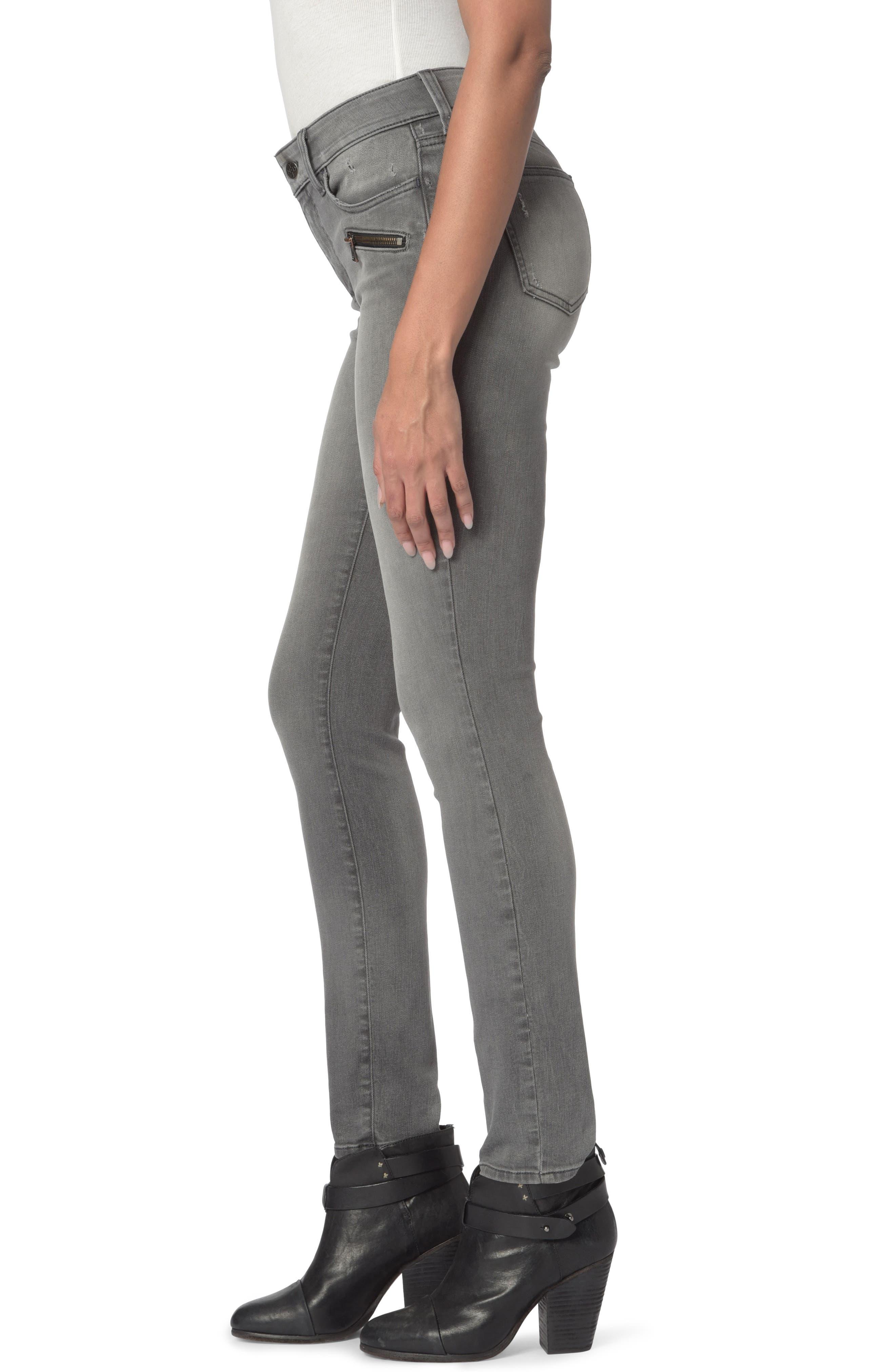 Alina Zippered Legging Jeans,                             Alternate thumbnail 3, color,                             035