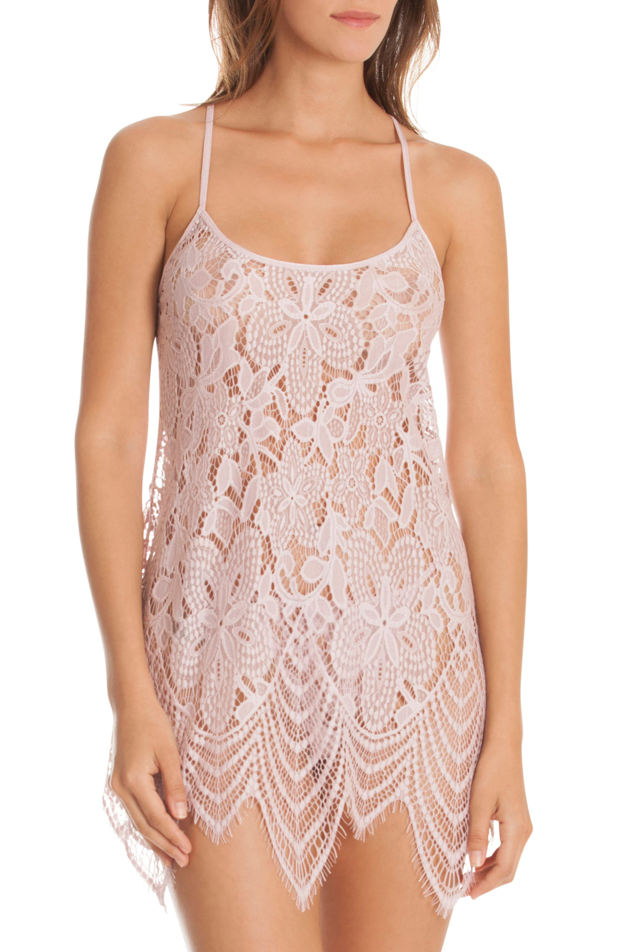Lace Chemise & Panties,                         Main,                         color, ORCHID