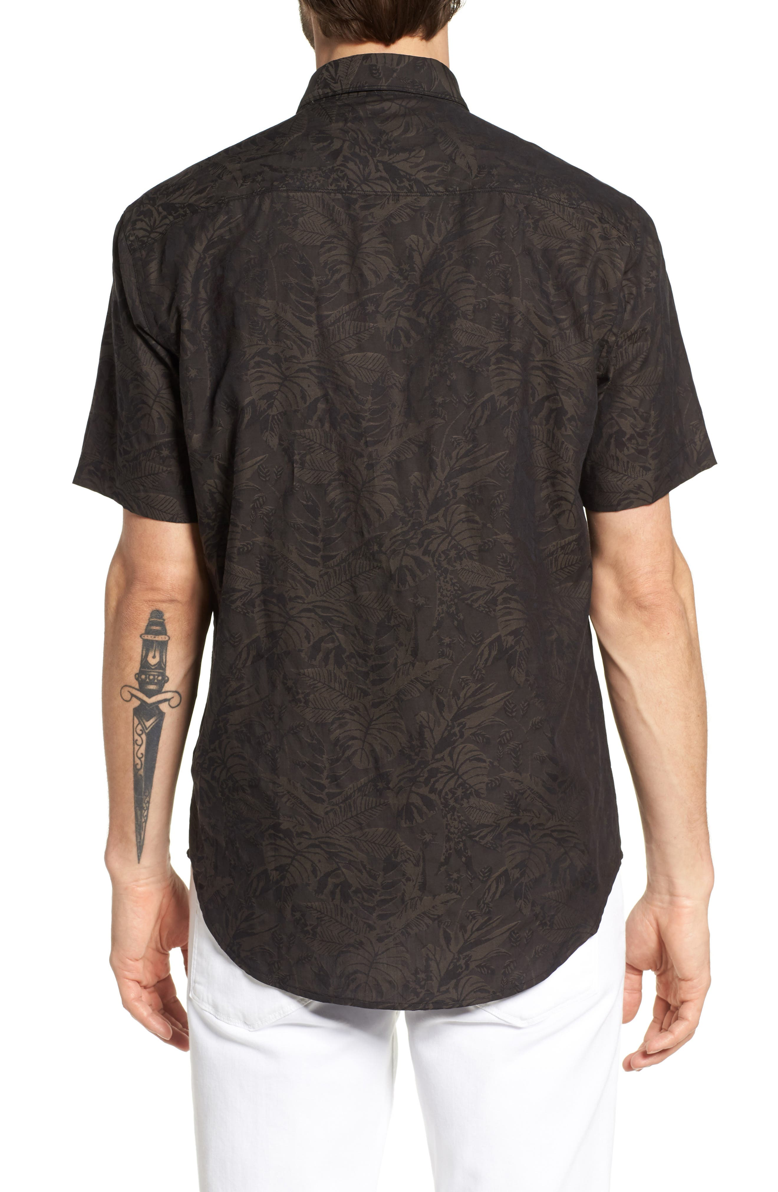 Princeville Regular Fit Print Short Sleeve Sport Shirt,                             Alternate thumbnail 2, color,                             011