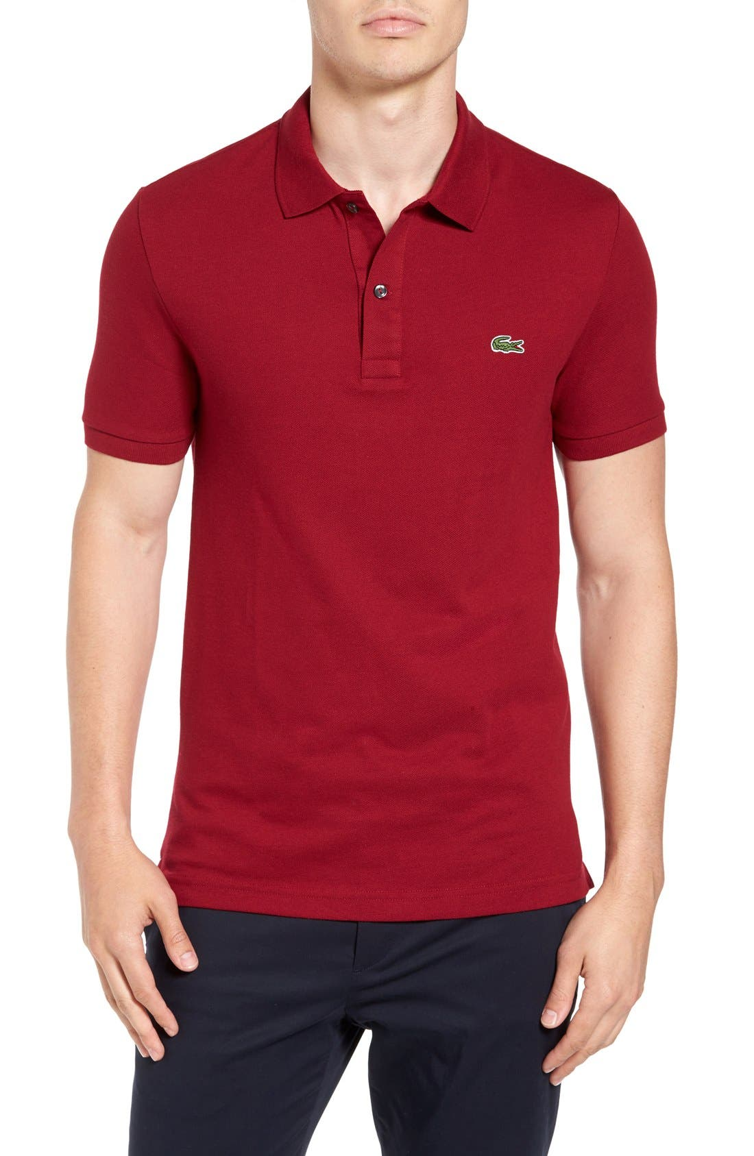 Slim Fit Piqué Polo,                             Main thumbnail 9, color,
