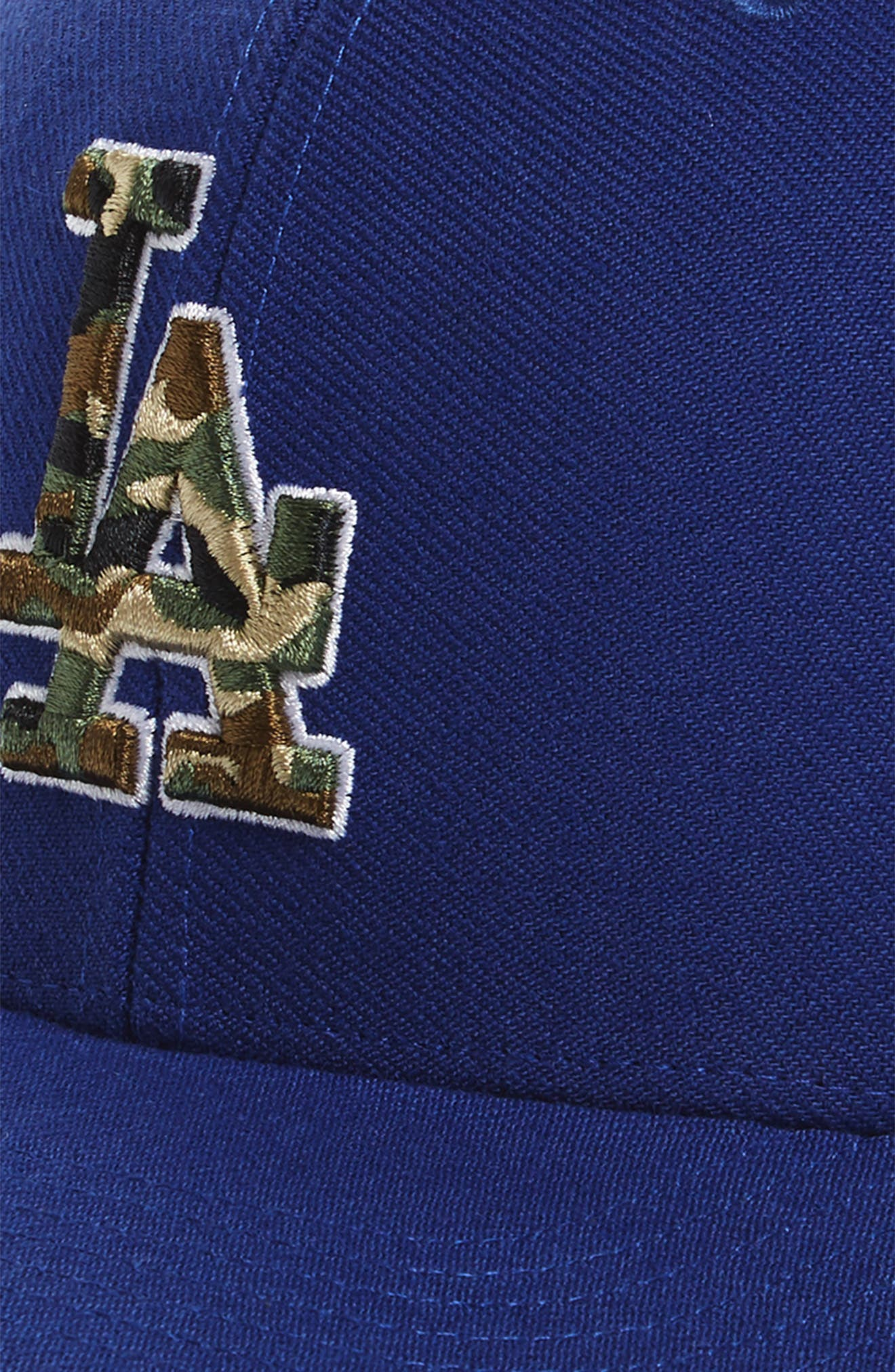 Los Angeles Dodgers - Camouflage Baseball Cap,                             Alternate thumbnail 3, color,