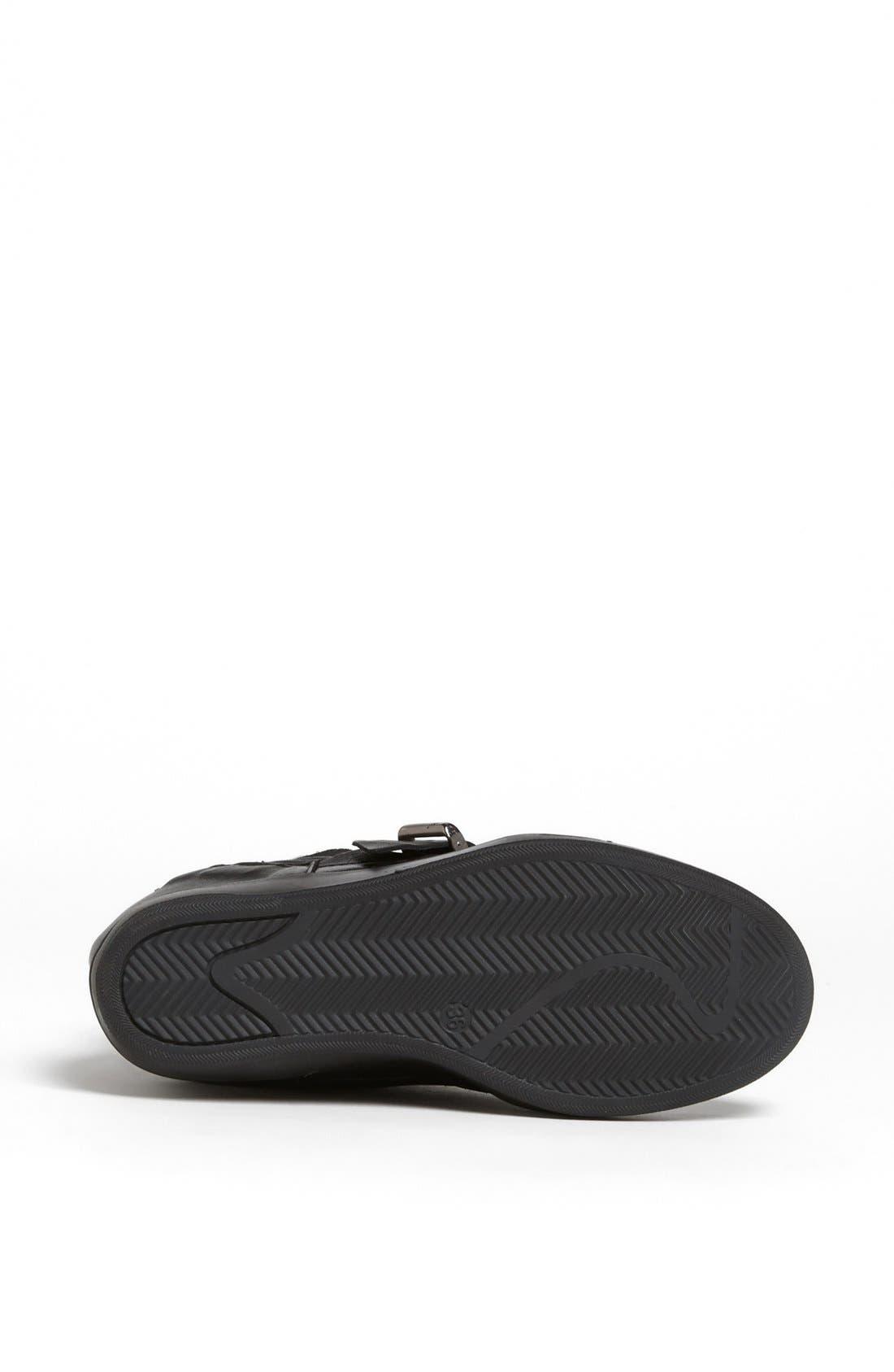 'Lucas' Wedge Sneaker,                             Alternate thumbnail 4, color,                             001