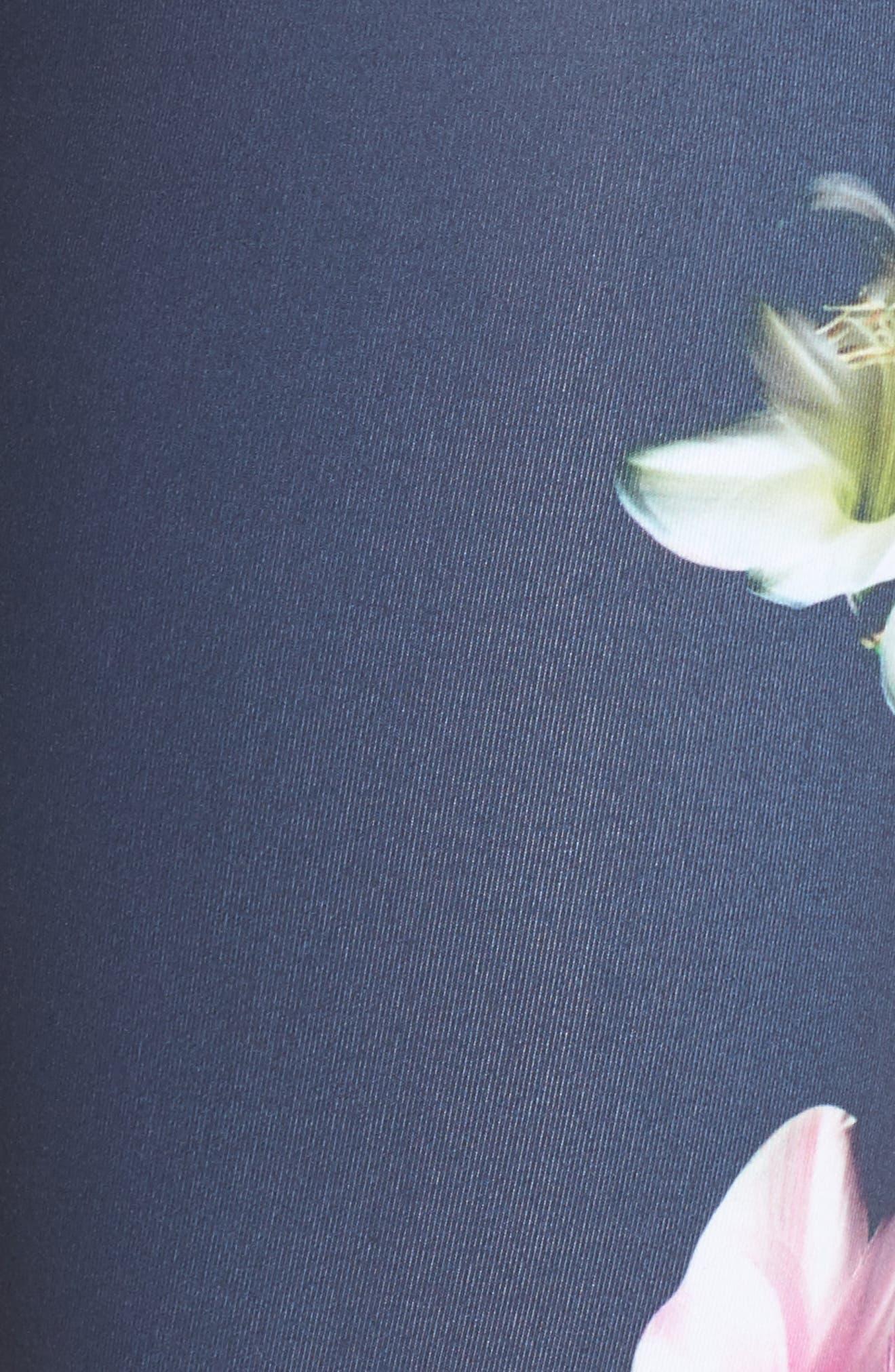 Pure Floral Ink High Waist Leggings,                             Alternate thumbnail 6, color,                             021