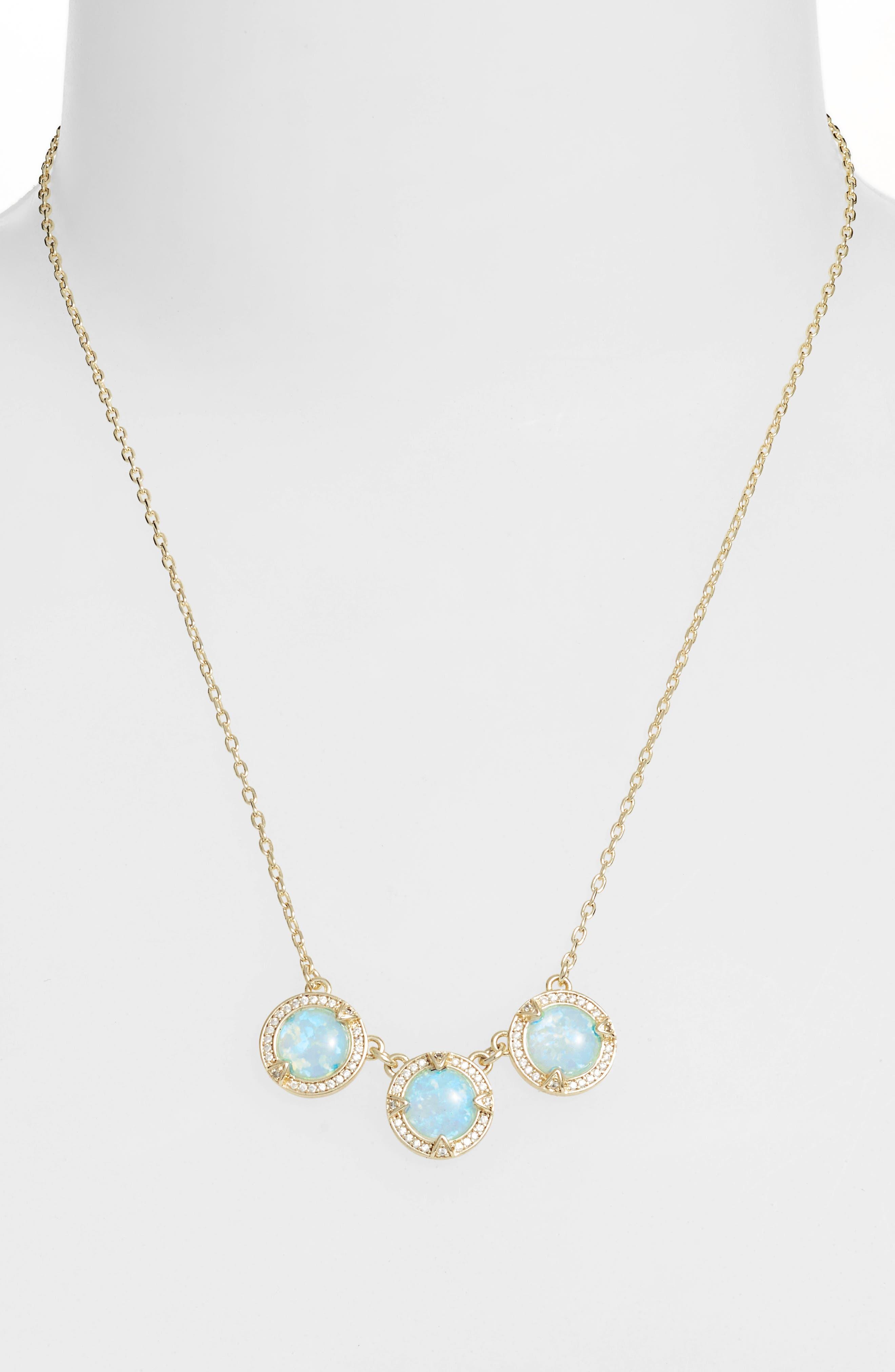 Juile Opal & Crystal Pendant Necklace,                             Alternate thumbnail 2, color,                             400