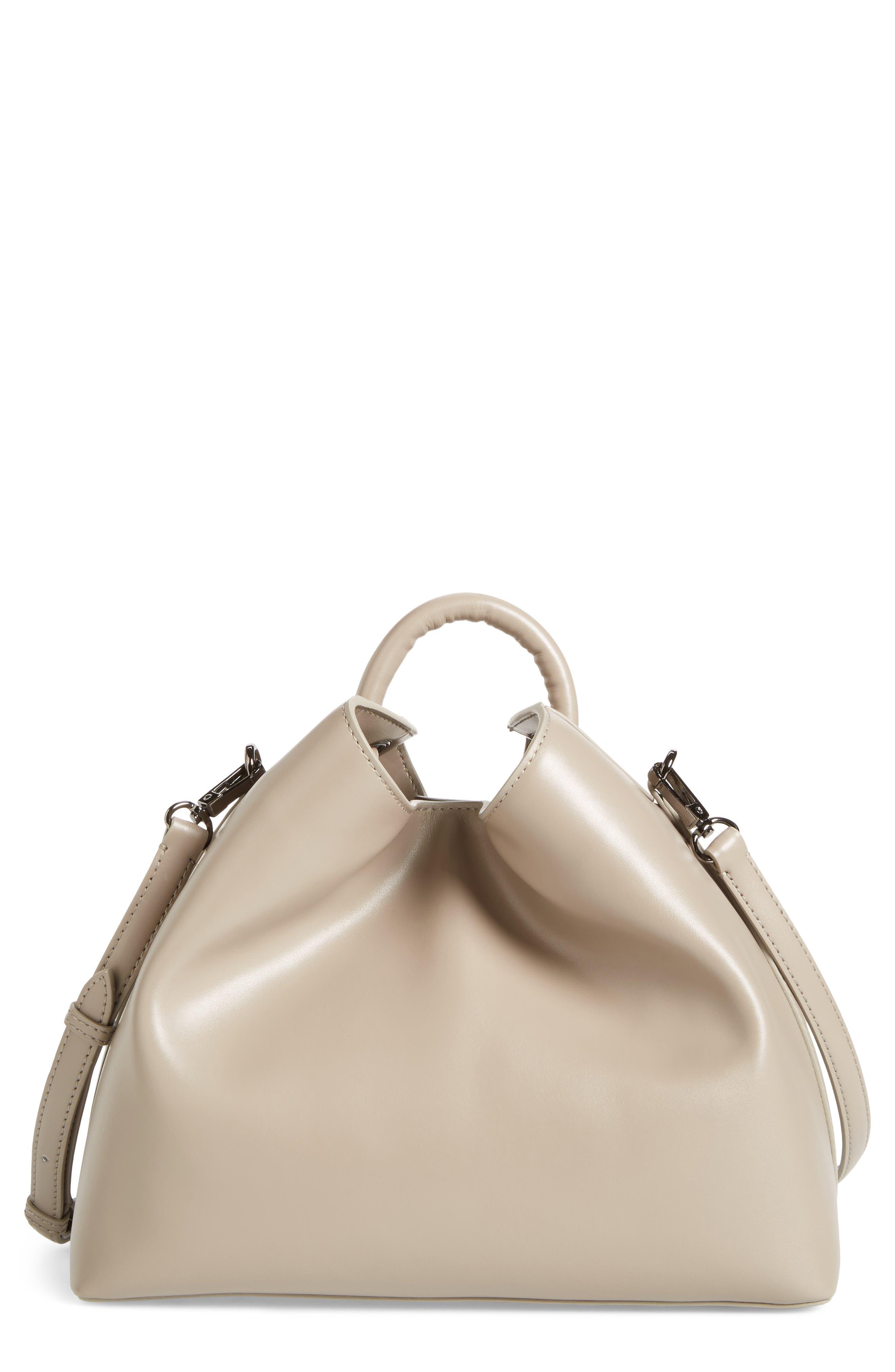 Raisin Leather Handbag,                             Main thumbnail 3, color,