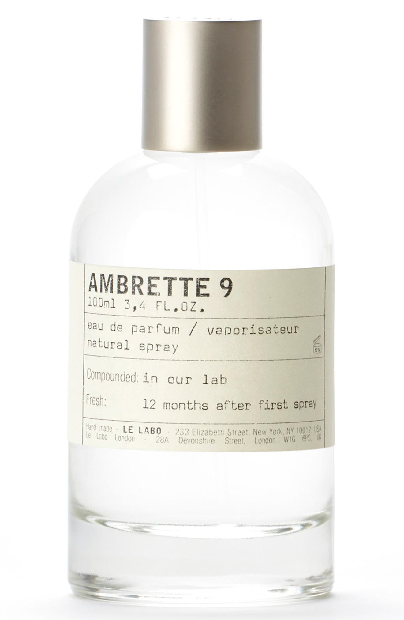 LE LABO,                             'Ambrette 9' Eau de Parfum,                             Main thumbnail 1, color,                             NO COLOR