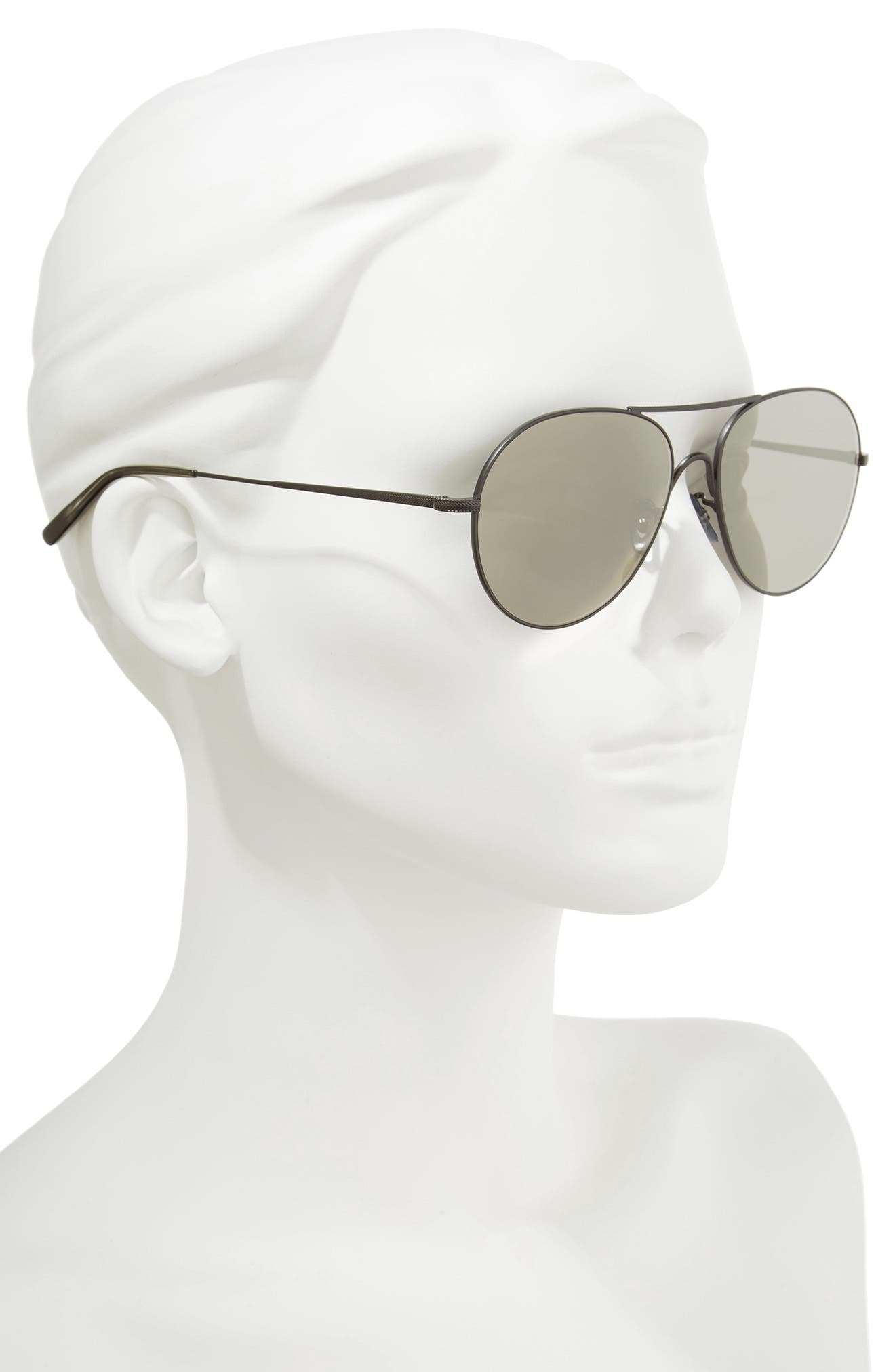 Rockmore 58mm Aviator Sunglasses,                             Alternate thumbnail 2, color,                             GREY