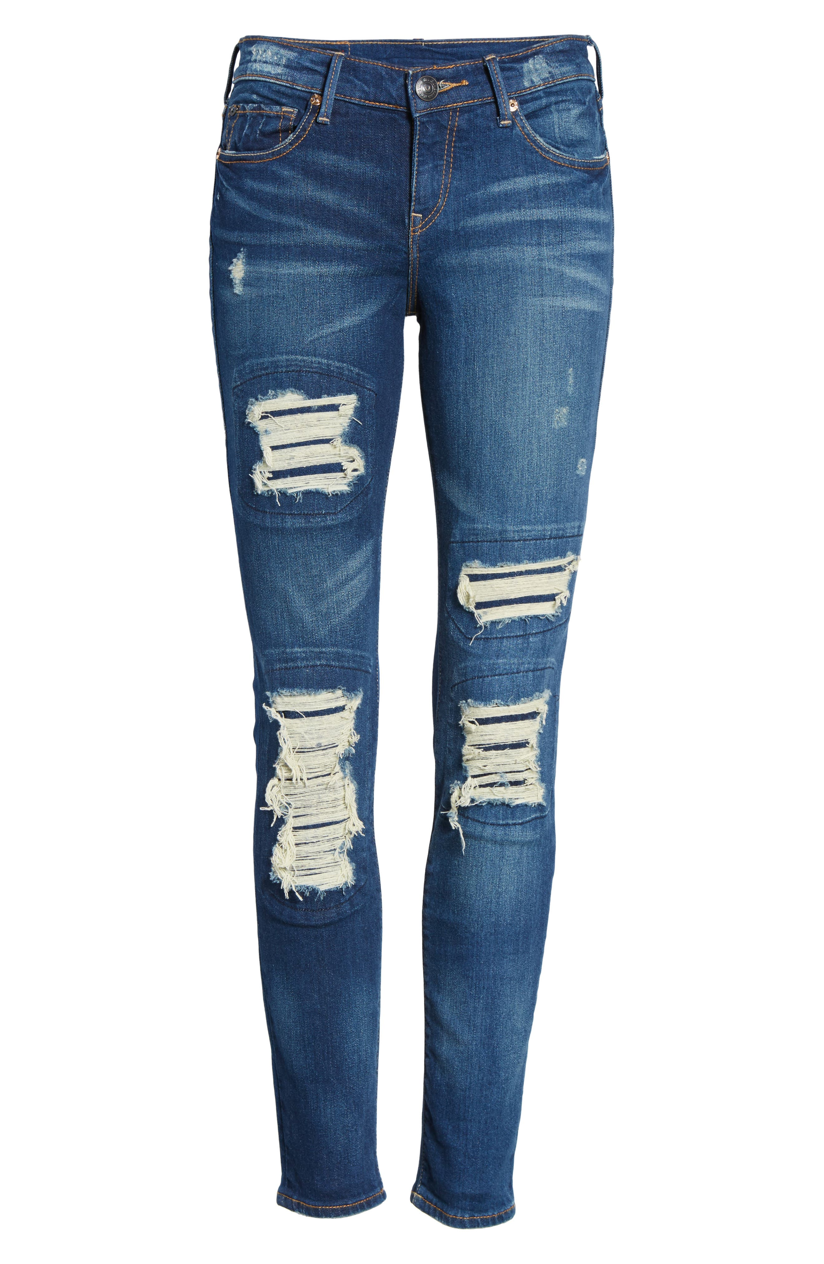 Halle Super Skinny Jeans,                             Alternate thumbnail 6, color,