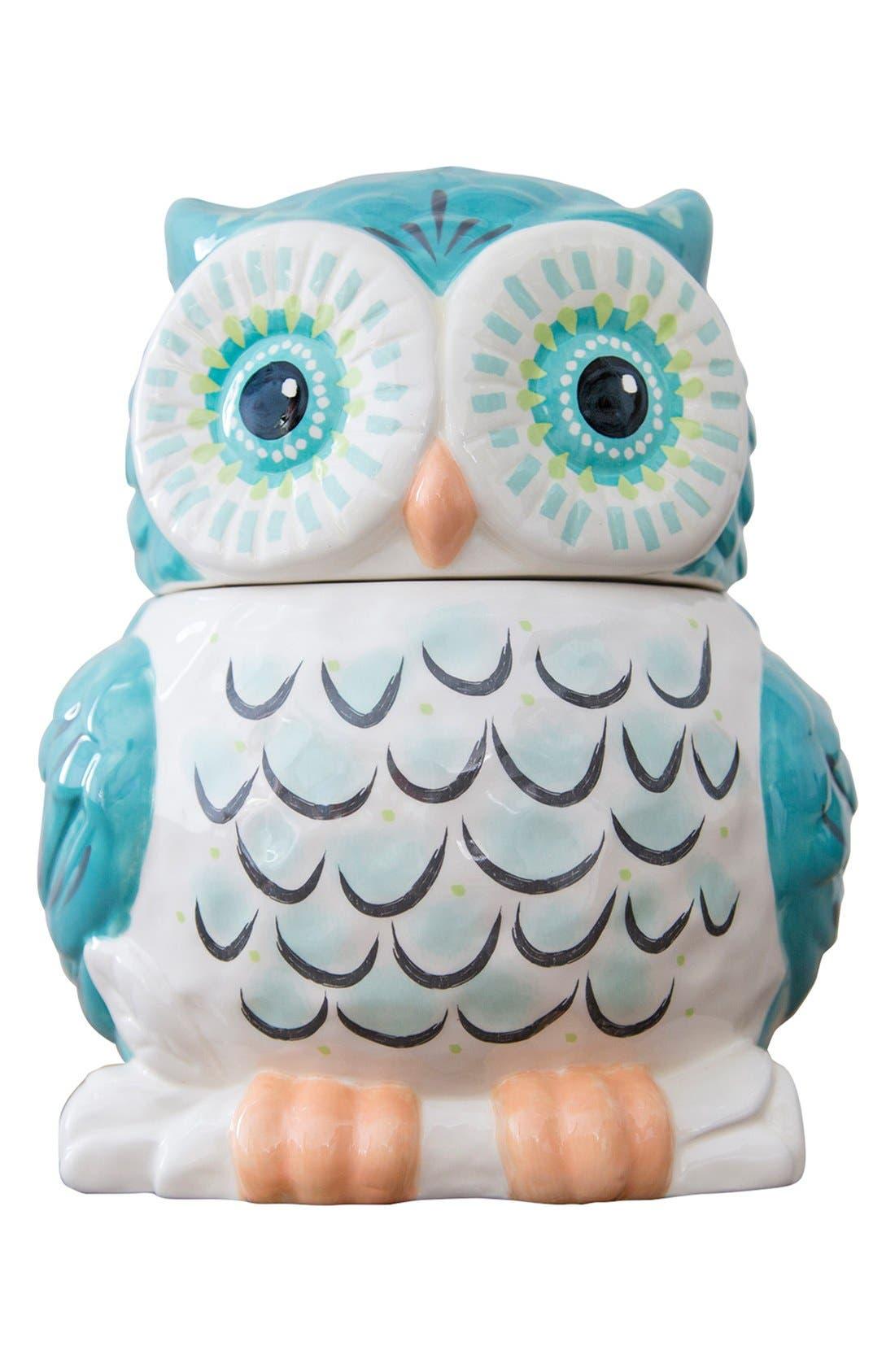 NATURAL LIFE Ceramic Owl Cookie Jar, Main, color, 900