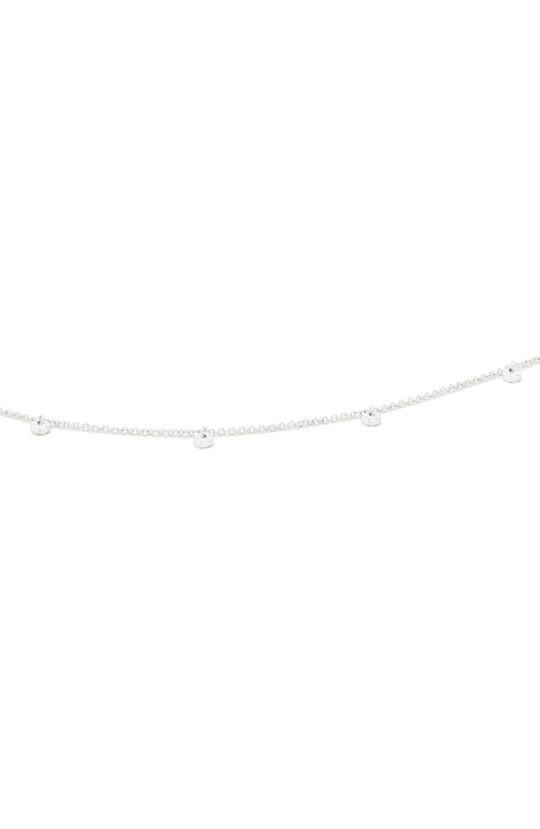 Charm Choker Necklace,                             Alternate thumbnail 5, color,                             SILVER