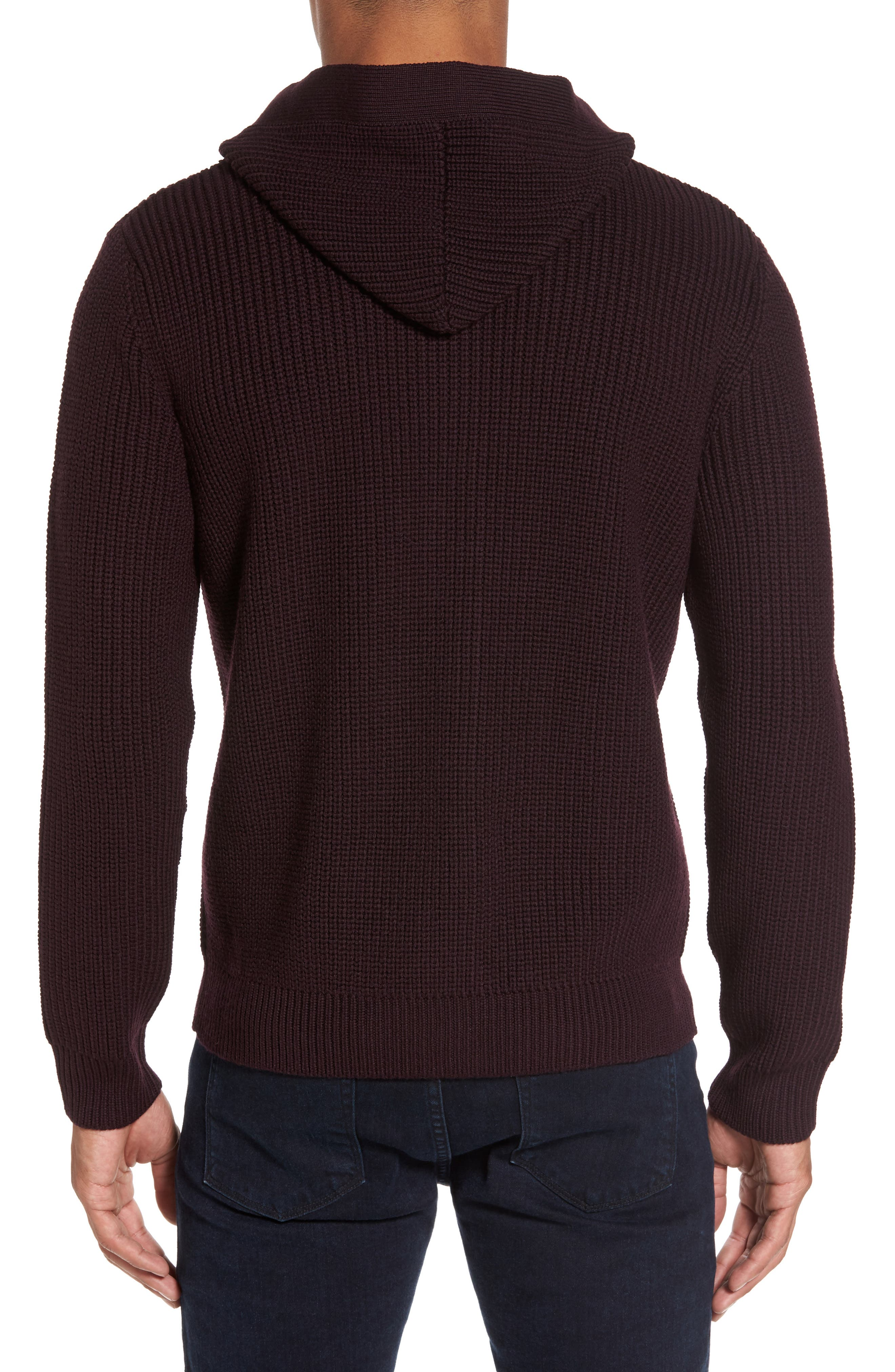 Ribbed Hooded Sweater,                             Alternate thumbnail 2, color,                             930