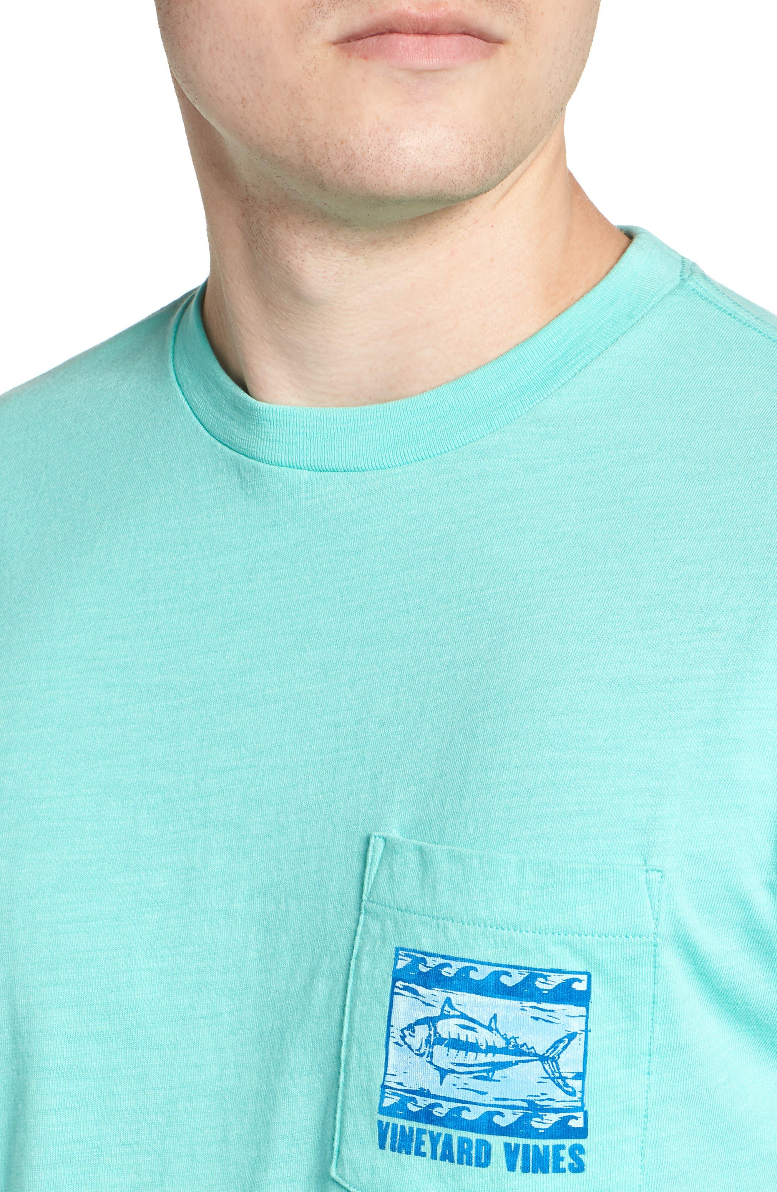 Woodblock Tuna T-Shirt,                             Alternate thumbnail 4, color,                             400
