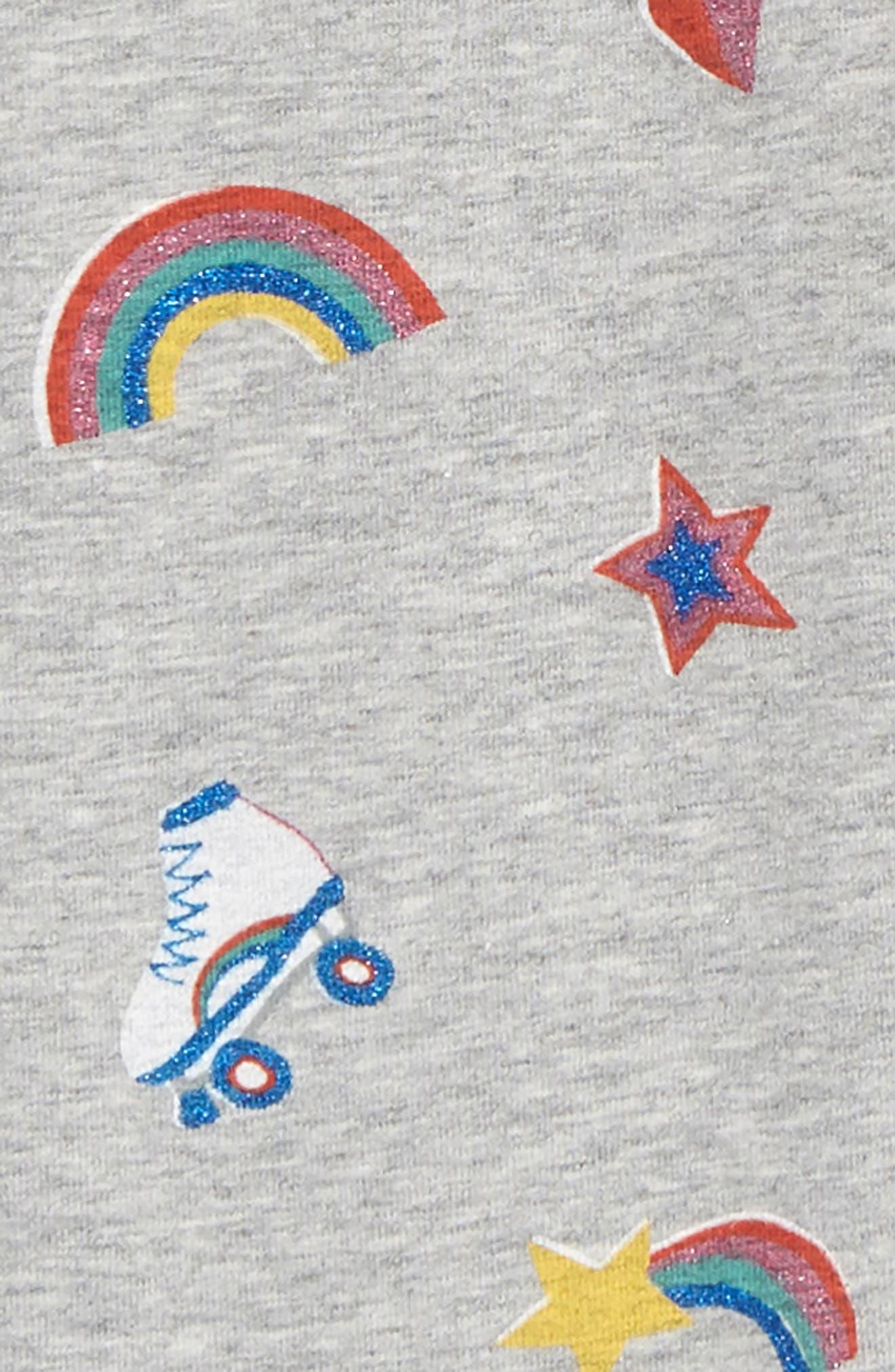 Fun Leggings,                             Alternate thumbnail 2, color,                             GREY MARL GLITTER DISCO