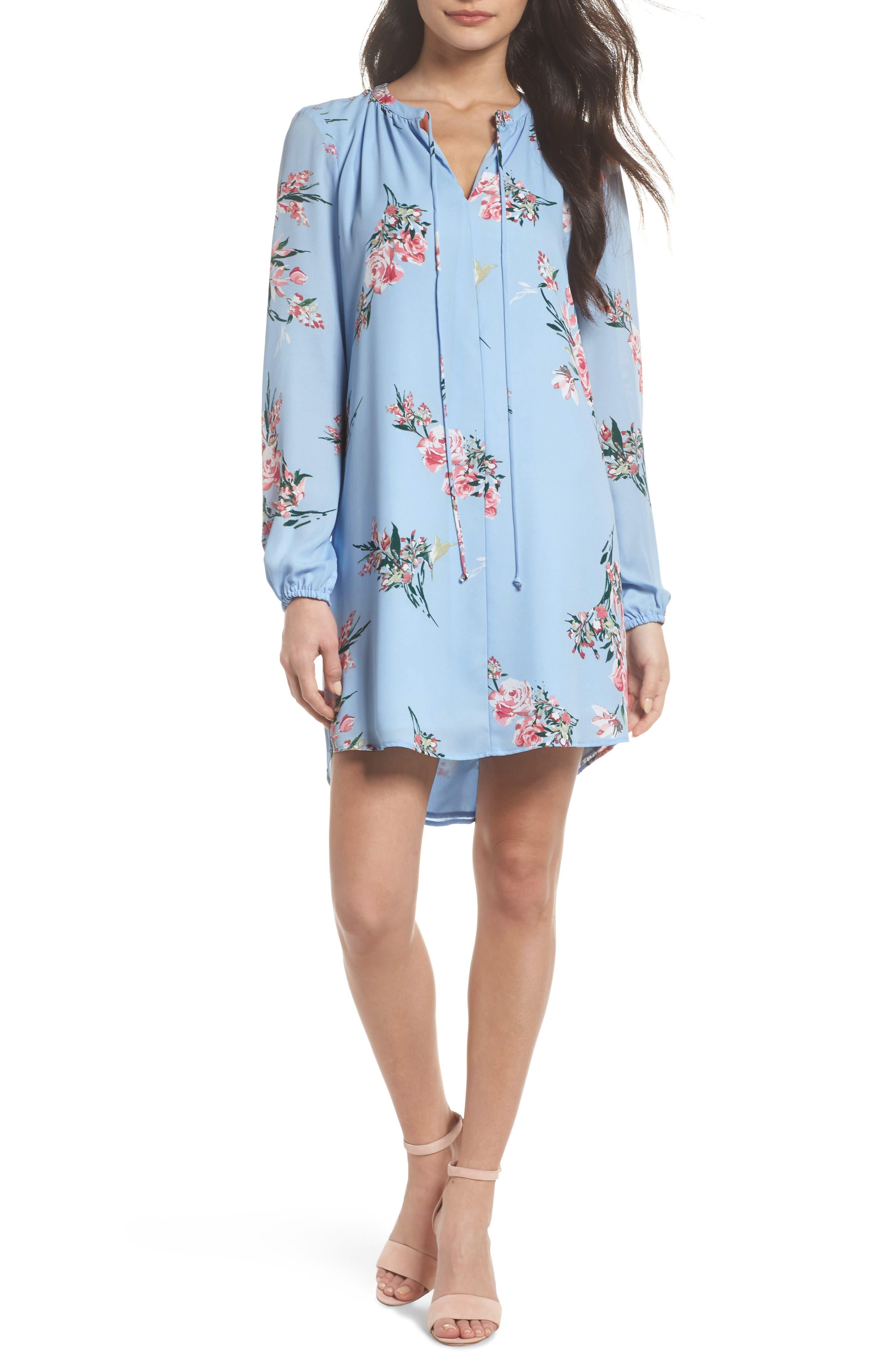 Floral Shift Dress,                         Main,                         color, 475