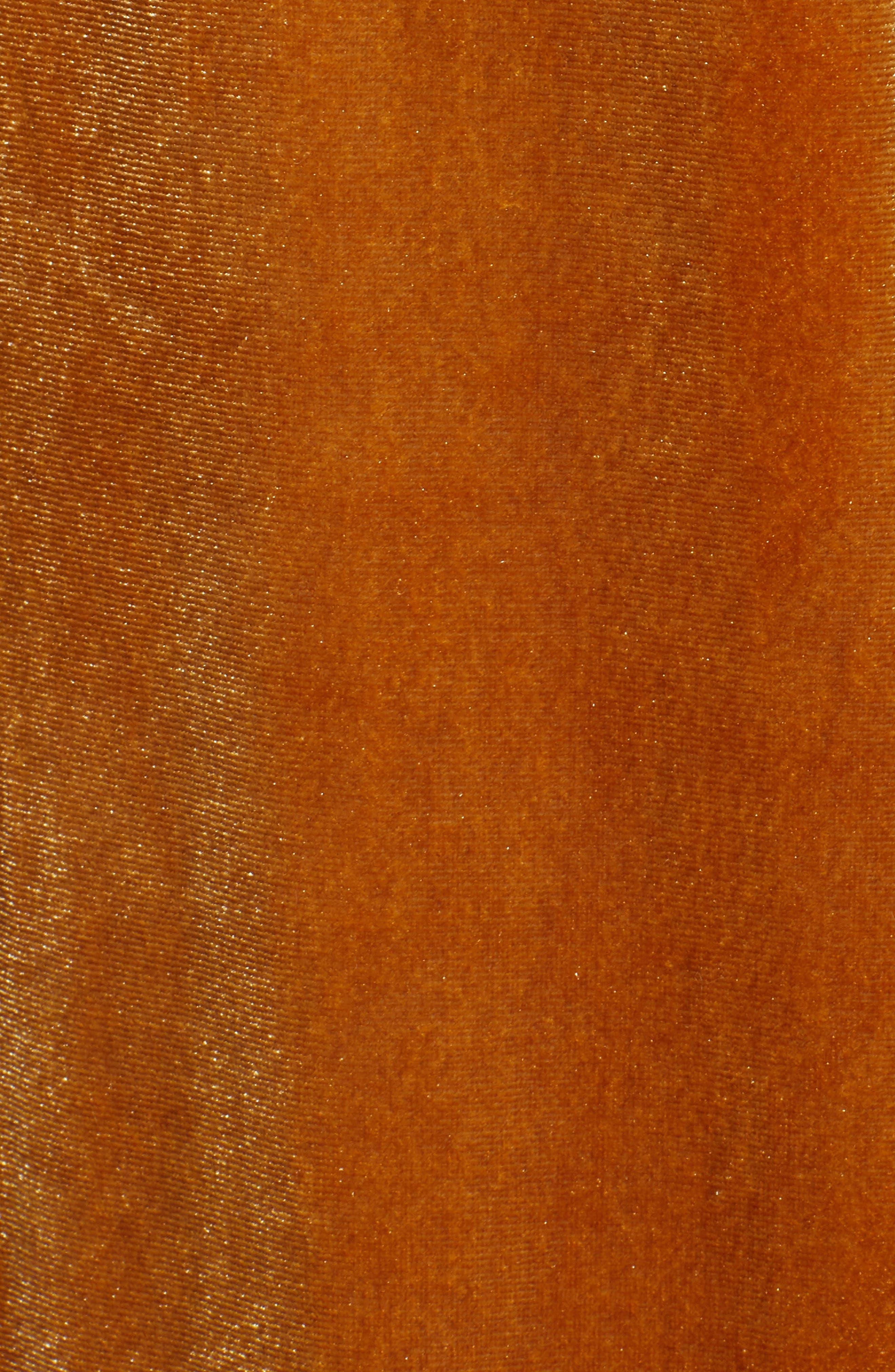 Velvet Wide Leg Pants,                             Alternate thumbnail 6, color,                             GOLD
