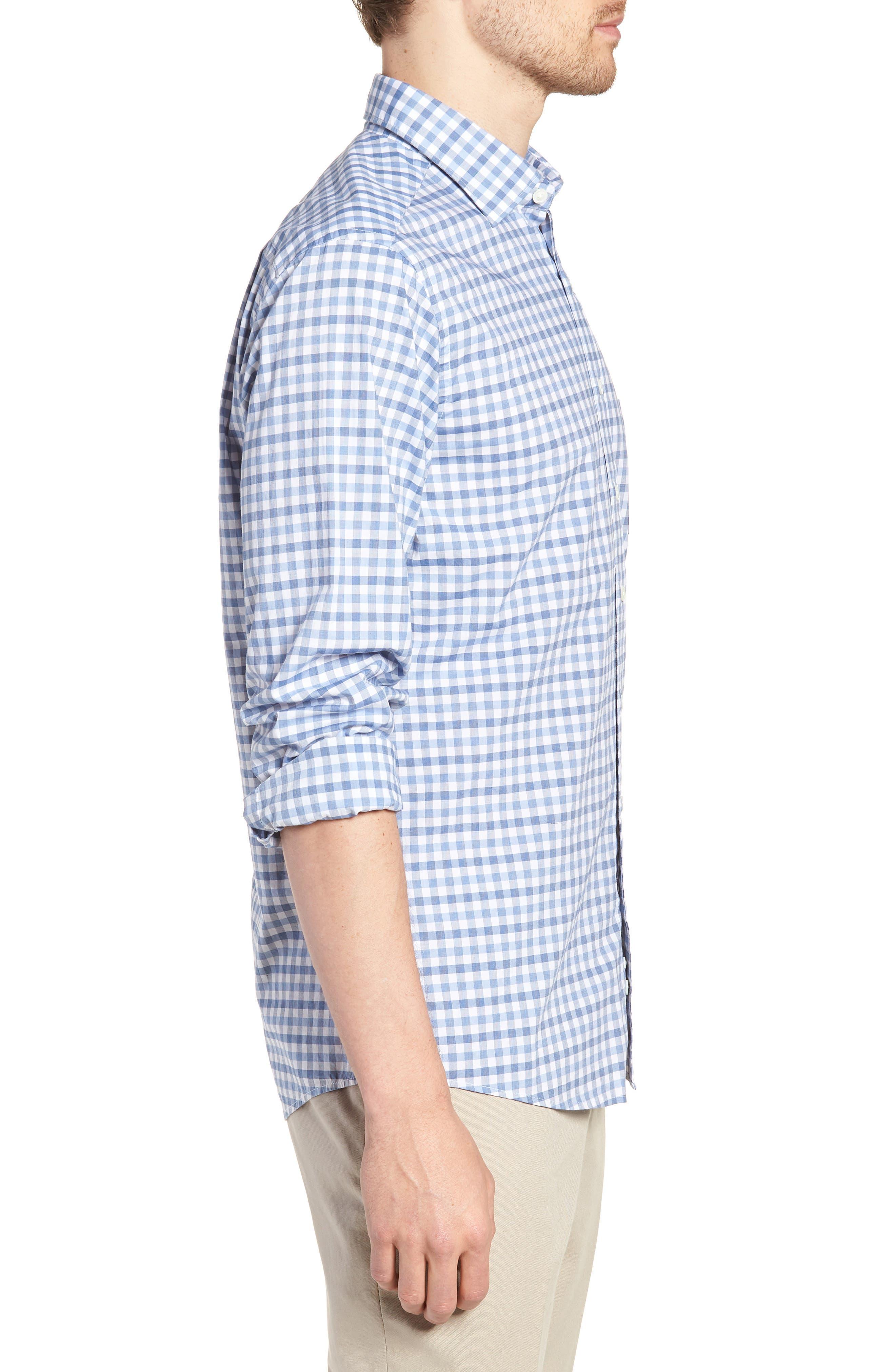 Shorecliffe Regular Fit Gingham Sport Shirt,                             Alternate thumbnail 3, color,                             414
