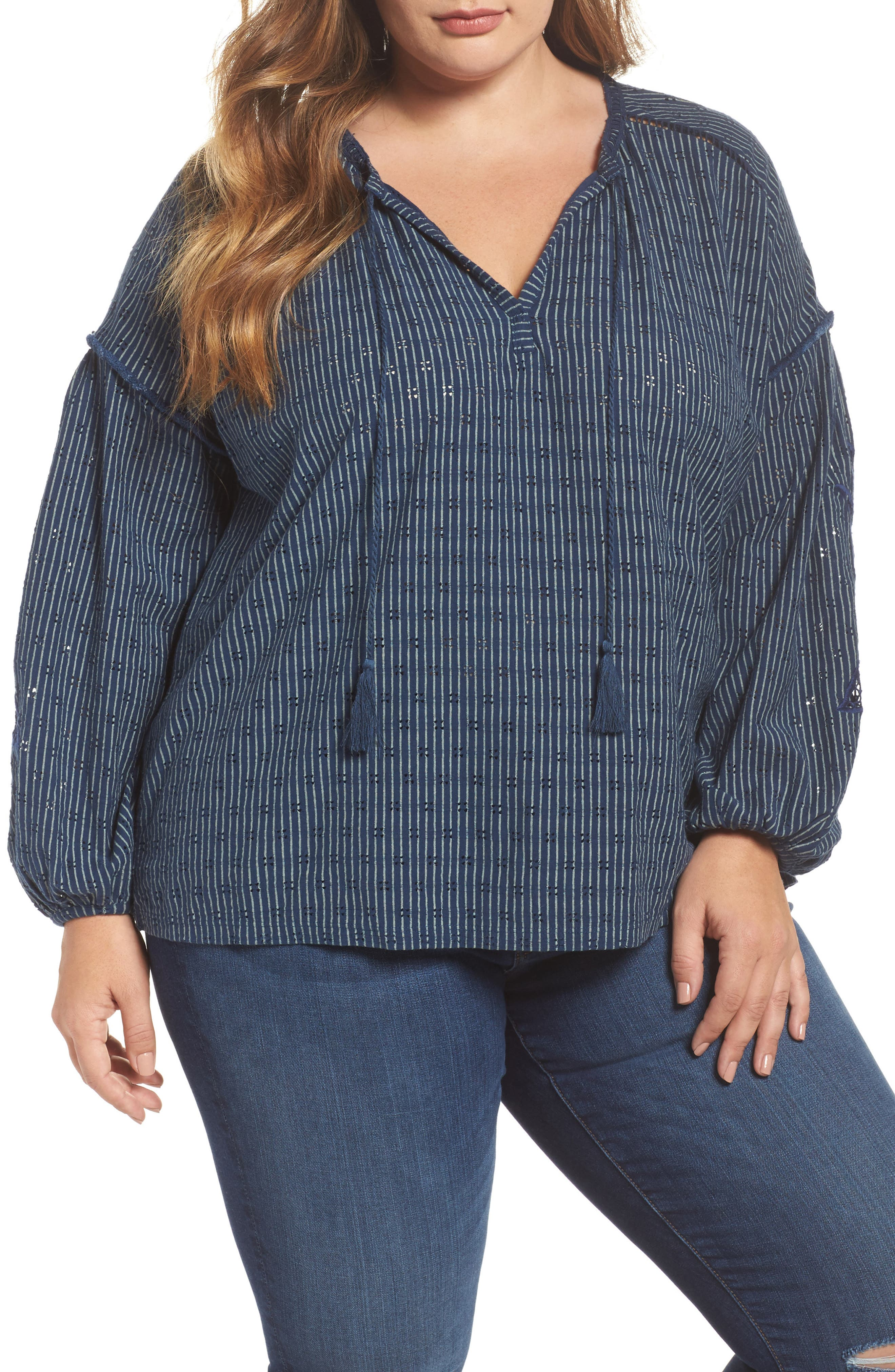 Embroidered Peasant Top,                         Main,                         color, 460