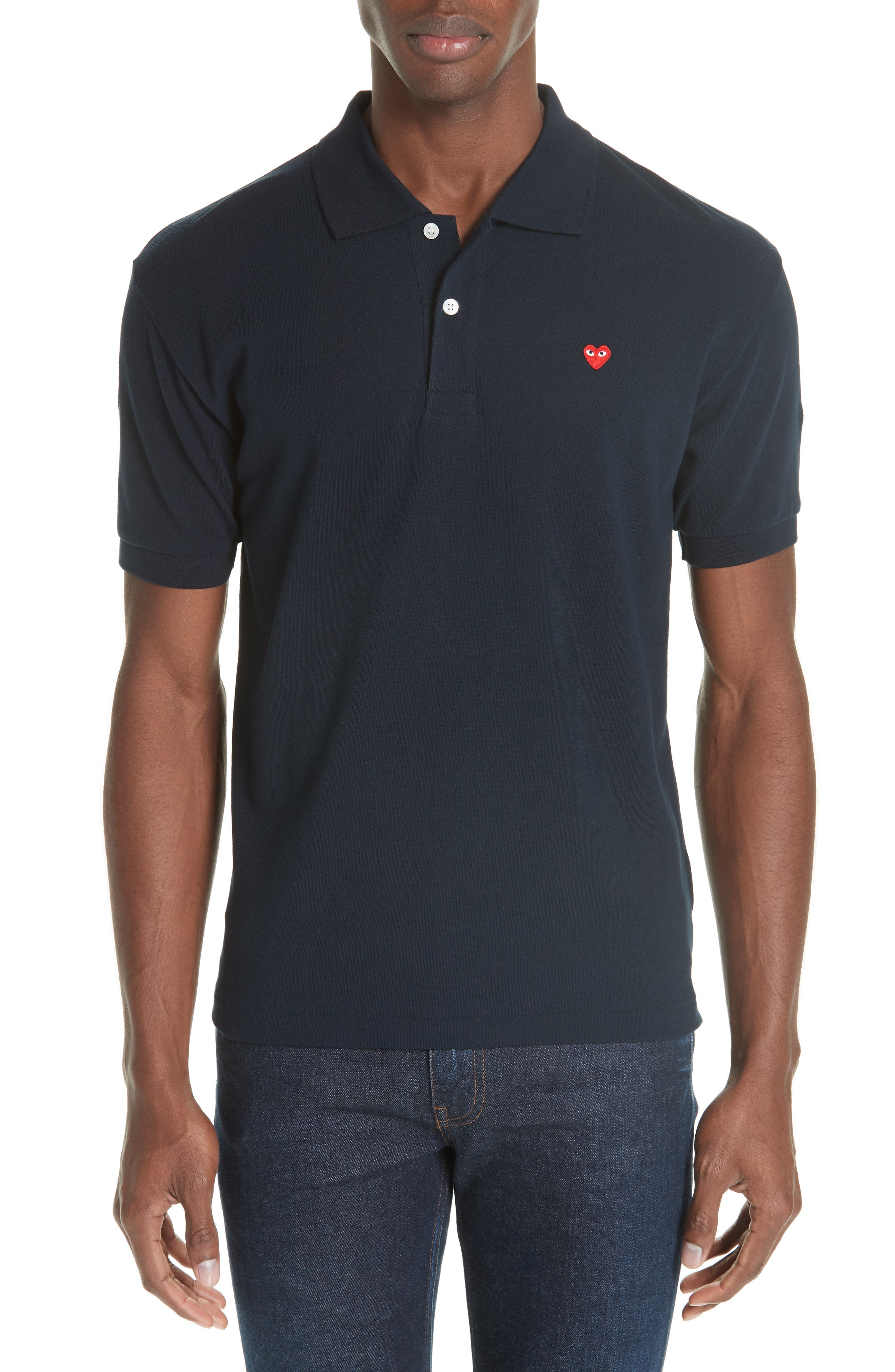 Cotton Piqué Polo,                         Main,                         color, 411