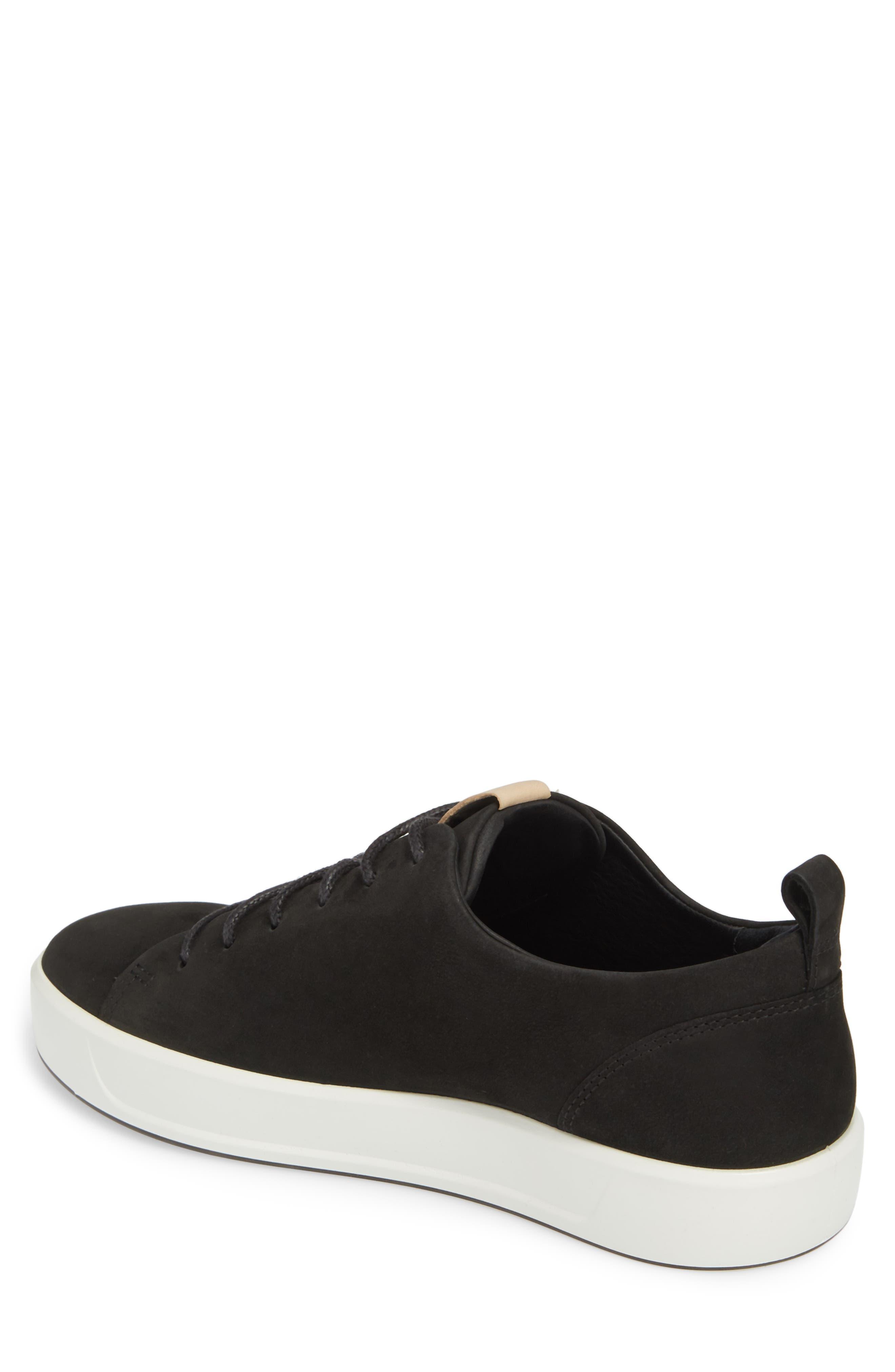 Soft 8 Sneaker,                             Alternate thumbnail 2, color,                             BLACK POWDER LEATHER