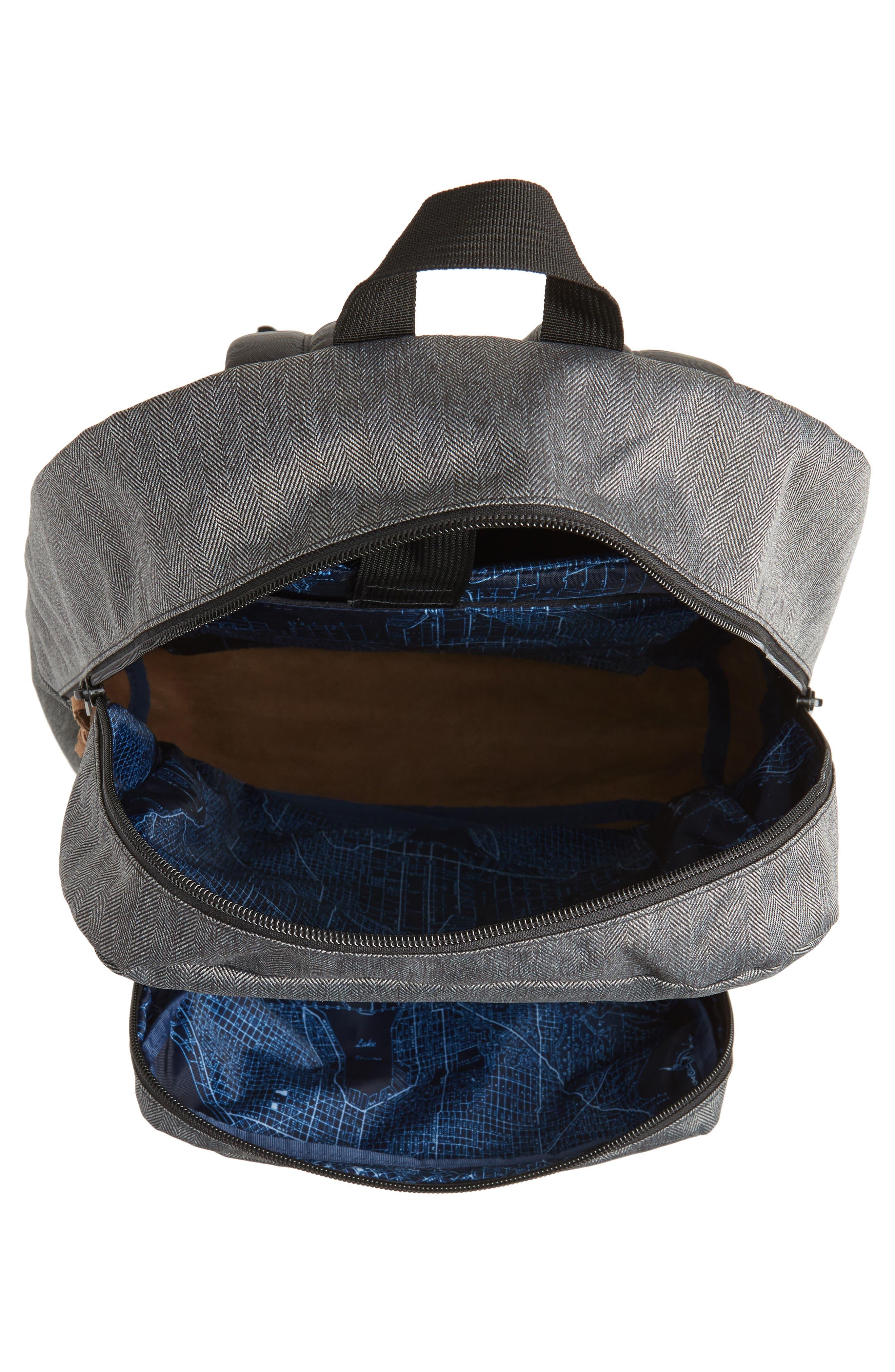 'Right Pack' Backpack,                             Alternate thumbnail 4, color,                             BLACK/ WHITE