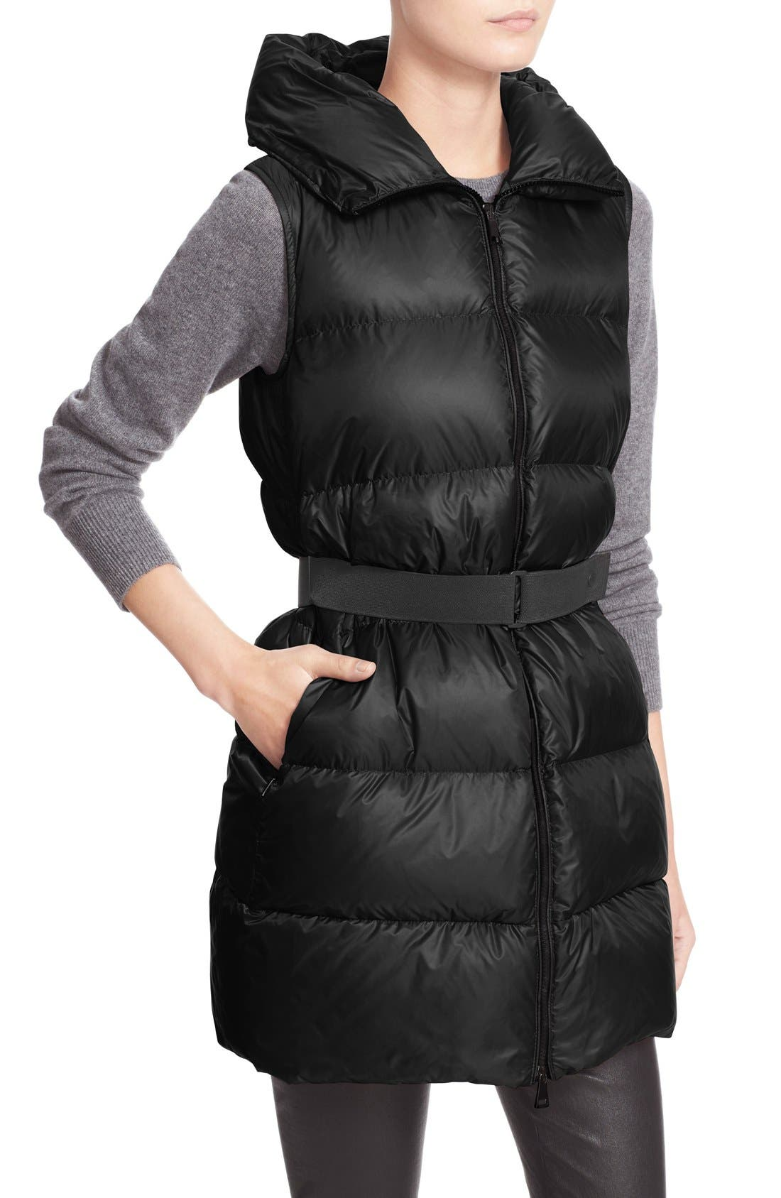 'Glykeria' Water Resistant Hooded Down Puffer Vest,                             Alternate thumbnail 6, color,                             001