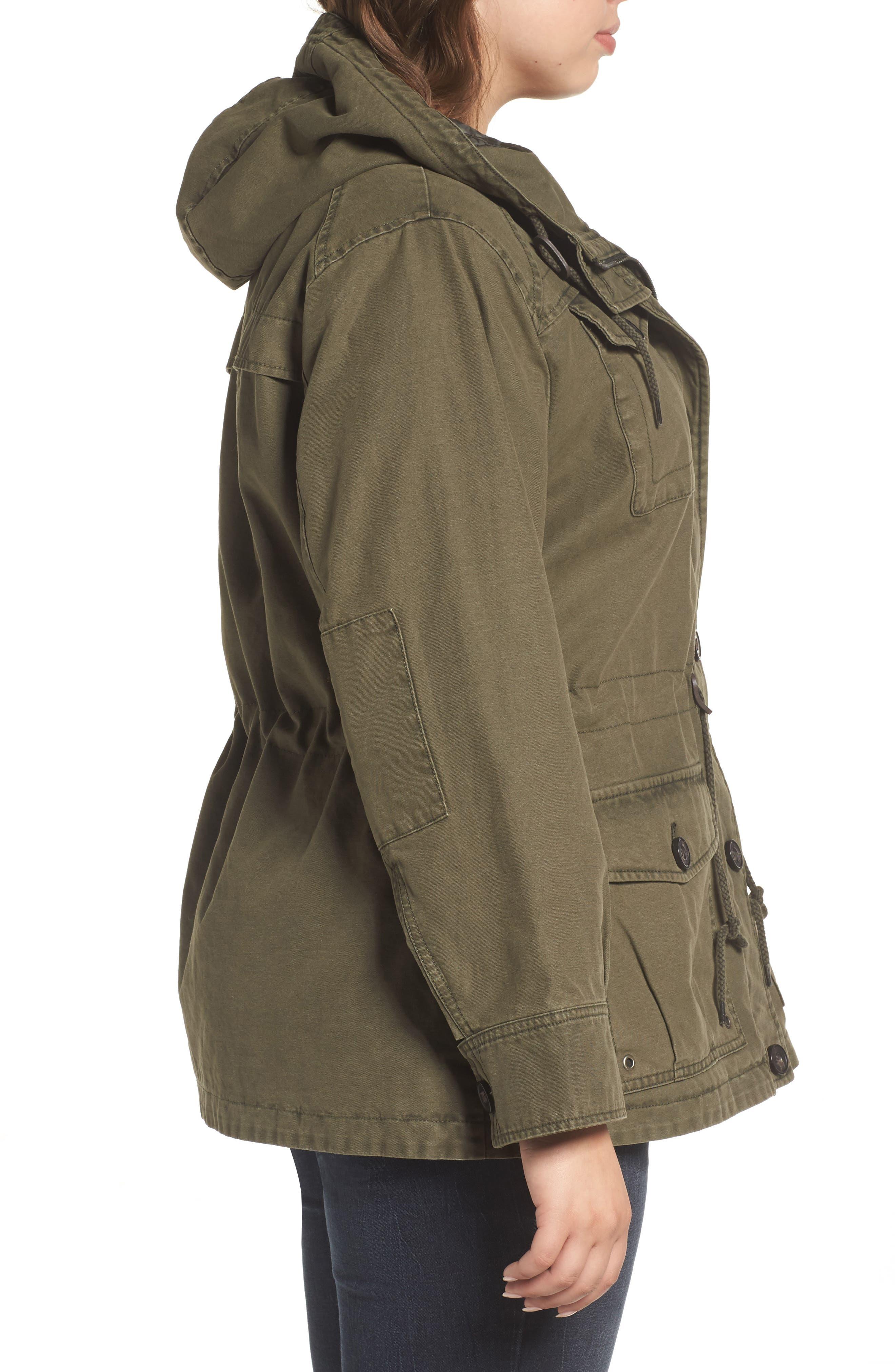 Hooded Cotton Utility Jacket,                             Alternate thumbnail 9, color,