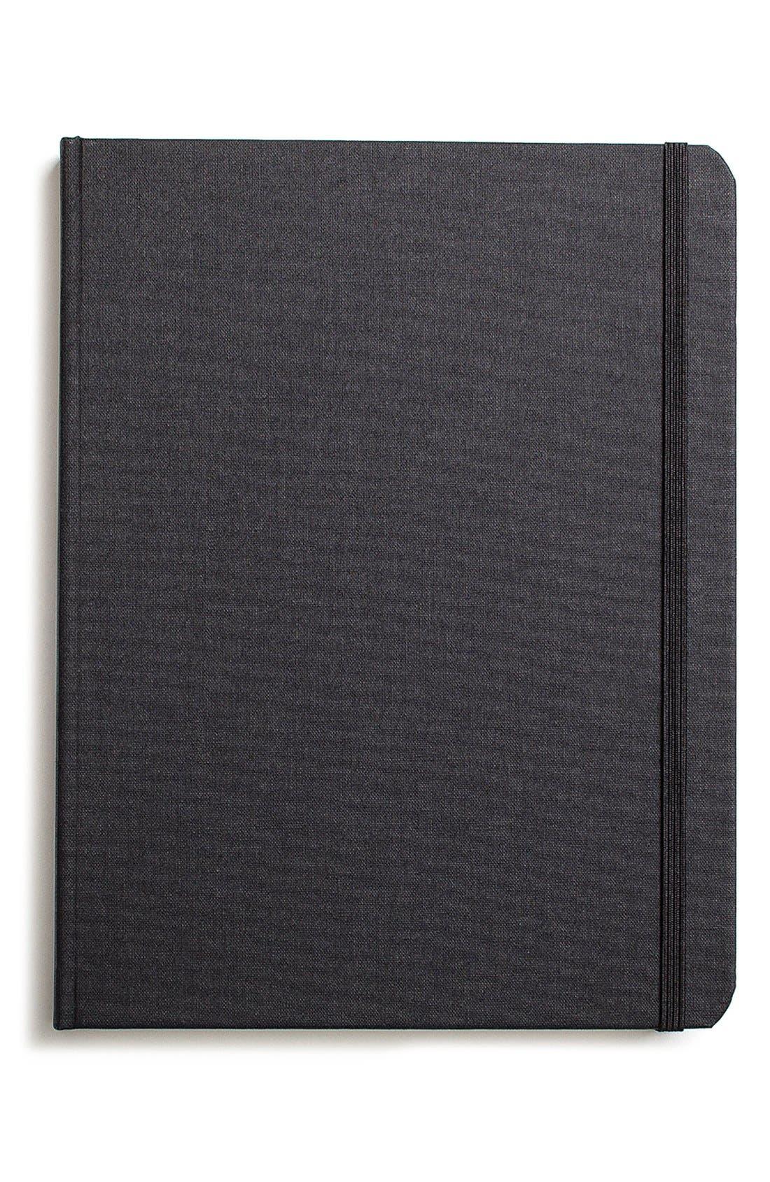 Hardcover Linen Journal,                         Main,                         color, JET BLACK